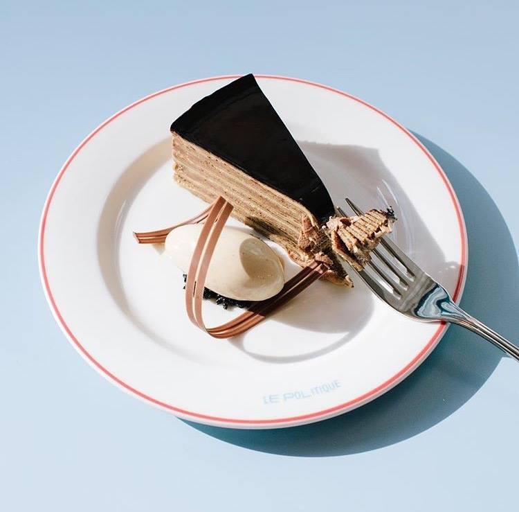 Le Politique's crepe cake