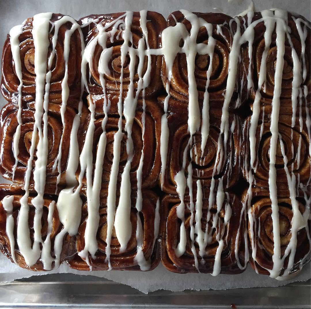 Cinnamon rolls at Semolina Kitchen & Bar