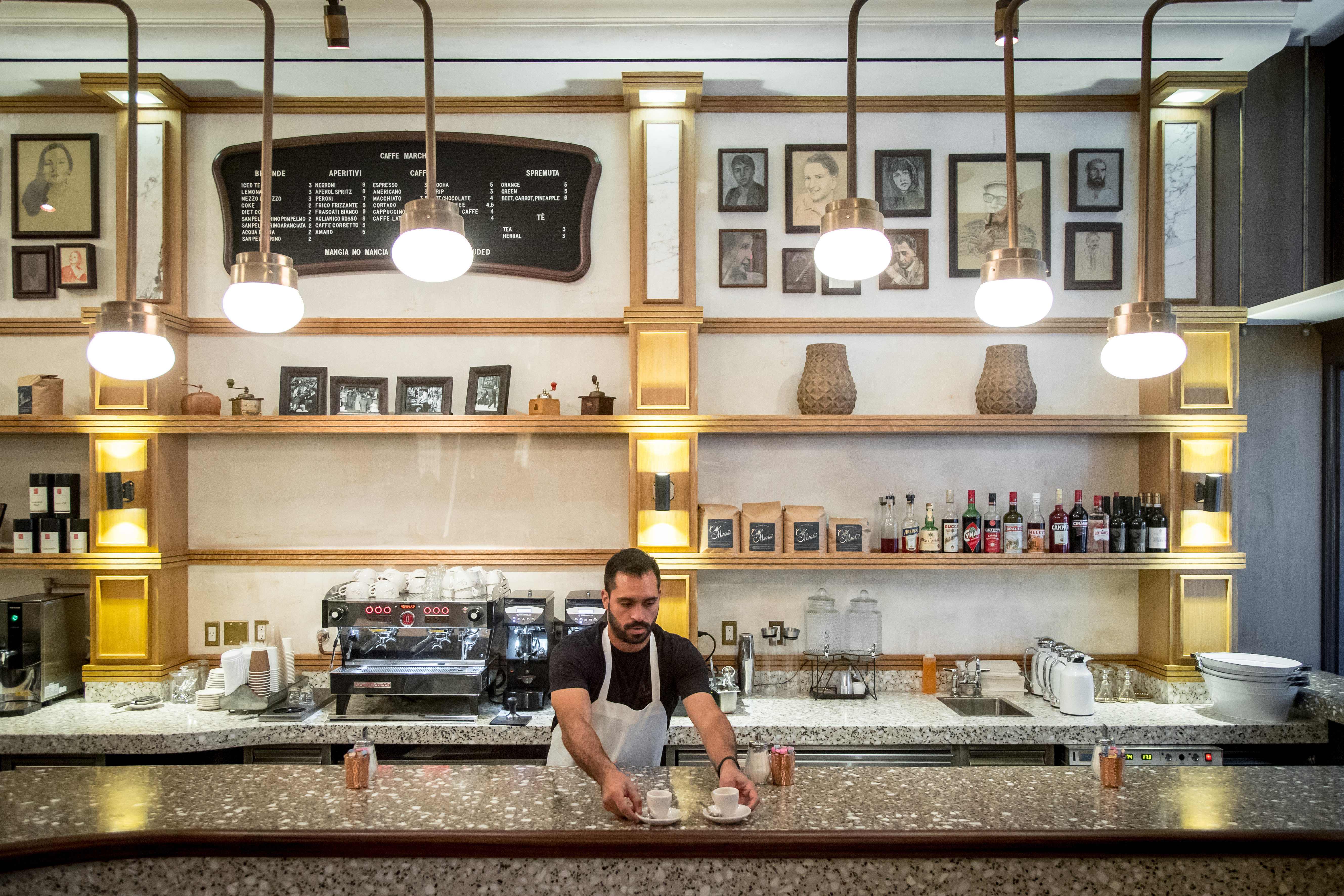 A Look at Caffe Marchio, Danny Meyer's Casual Roman Cafe Opening Monday