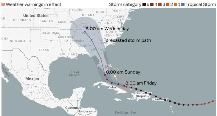 hurricane irma where the storm is and where itus heading