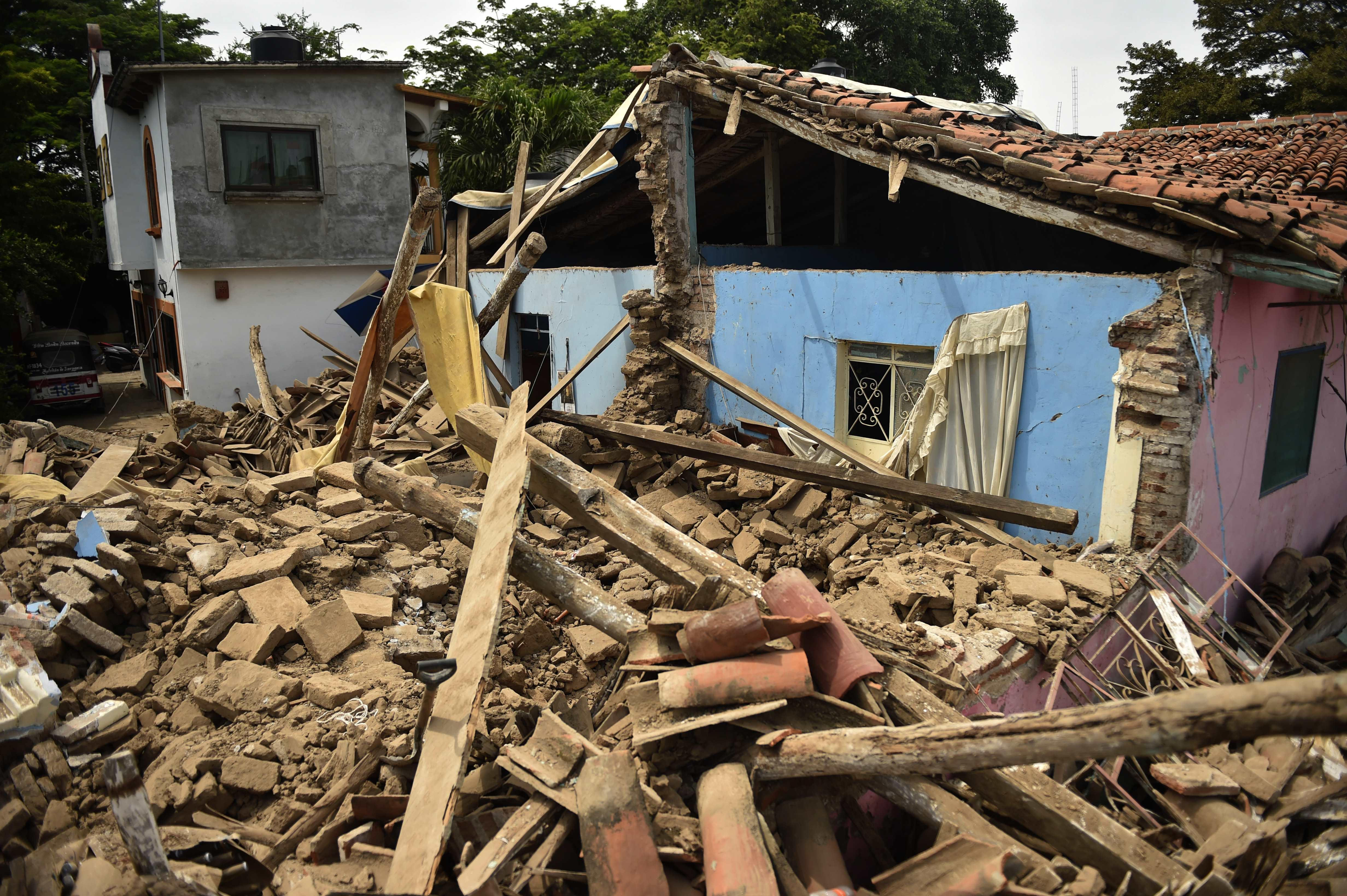 Juchitan de Zaragoza, state of Oaxaca, where buildings collapsed after an 8.1 earthquake\ hit Mexico's Pacific coast.