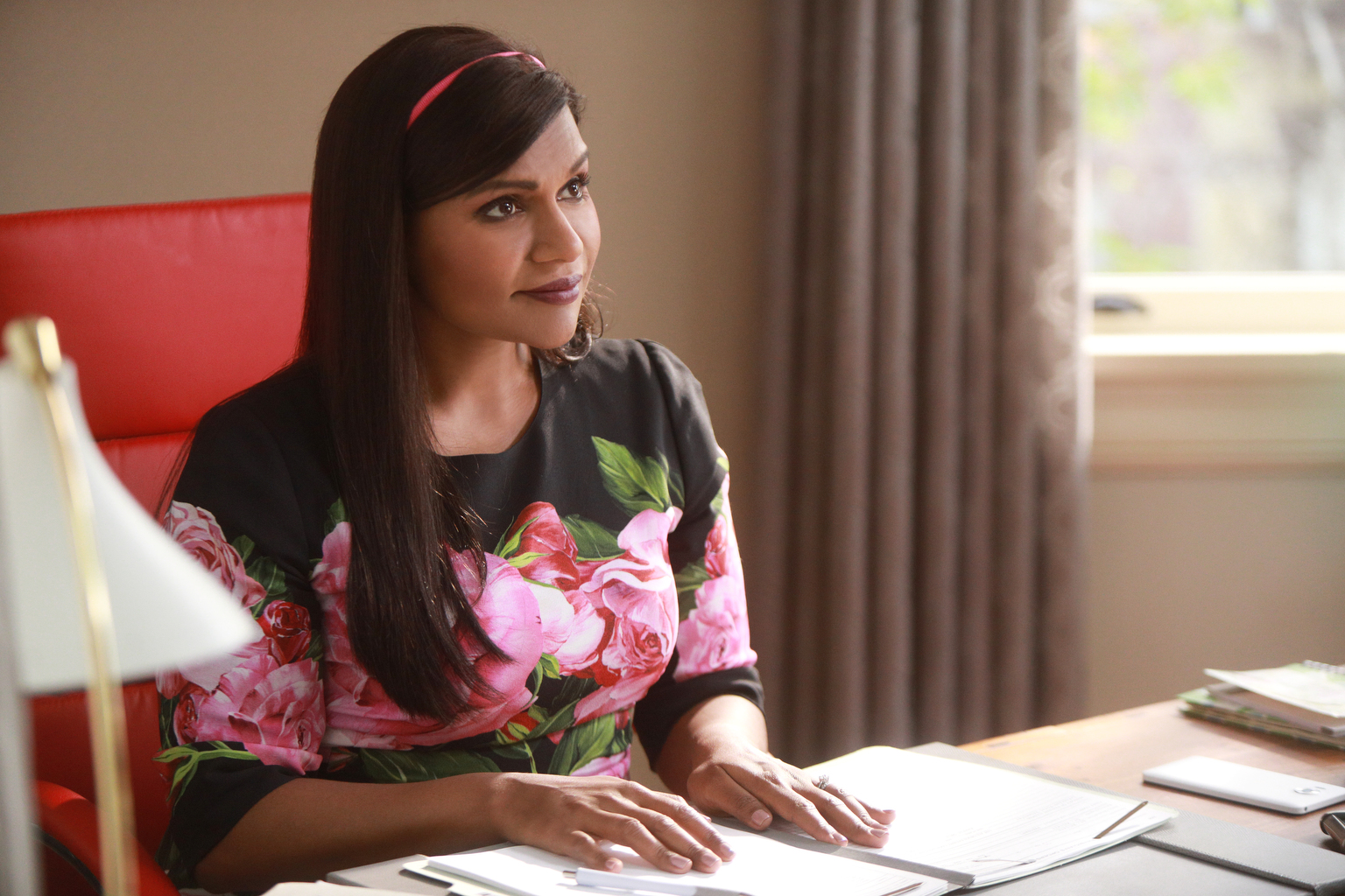Mindy Kaling as Mindy Lahiri in season 6 of The Mindy Project.