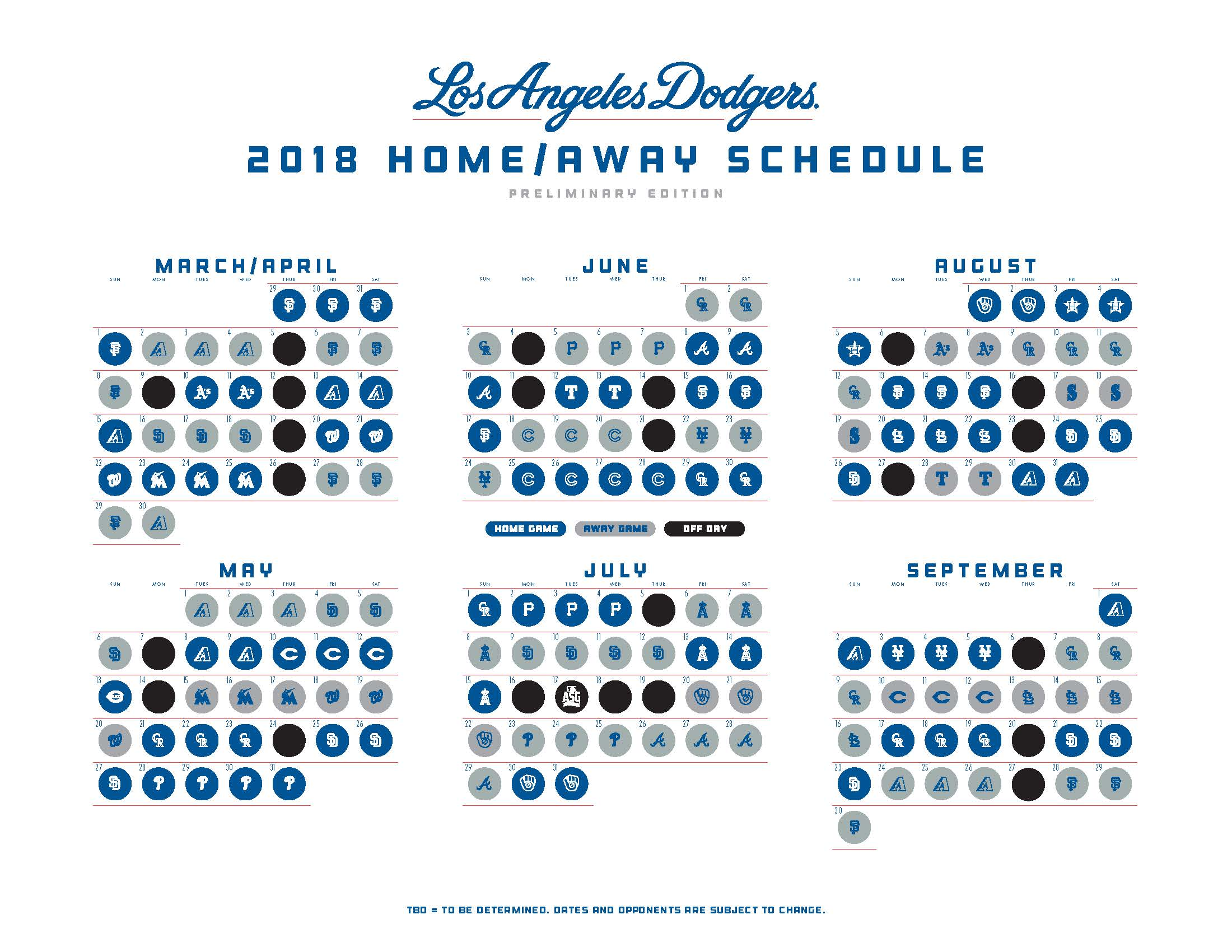 dodgers schedule - true blue la