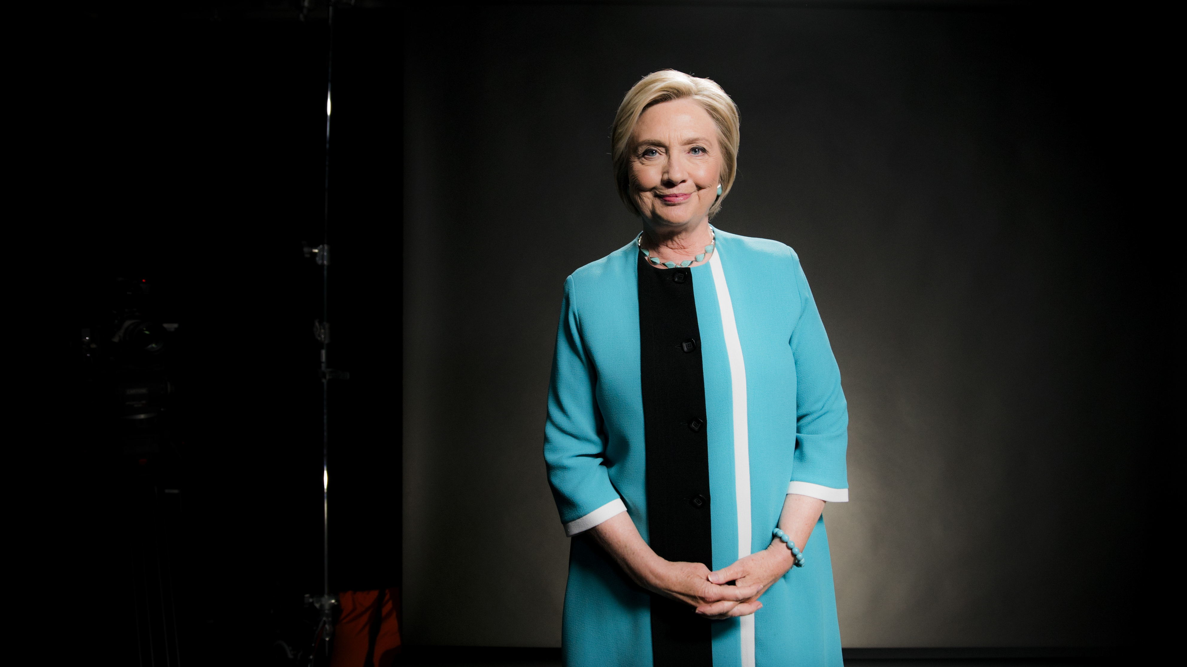 Hillary Clinton at her interview with Ezra Klein