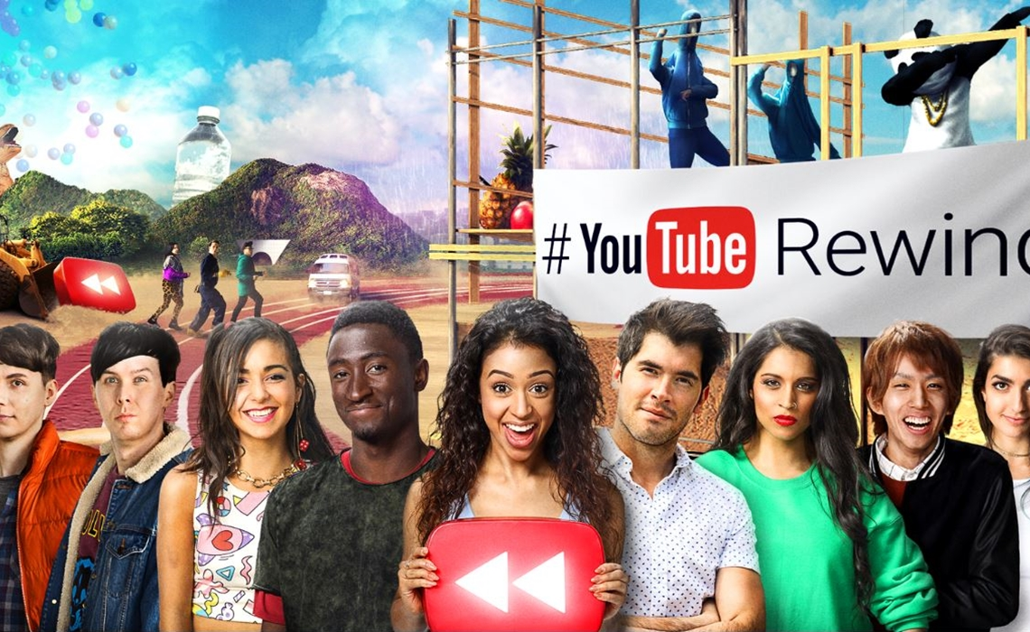 """YouTube's """"streampunk"""" stars, including Lilly Singh in the center"""