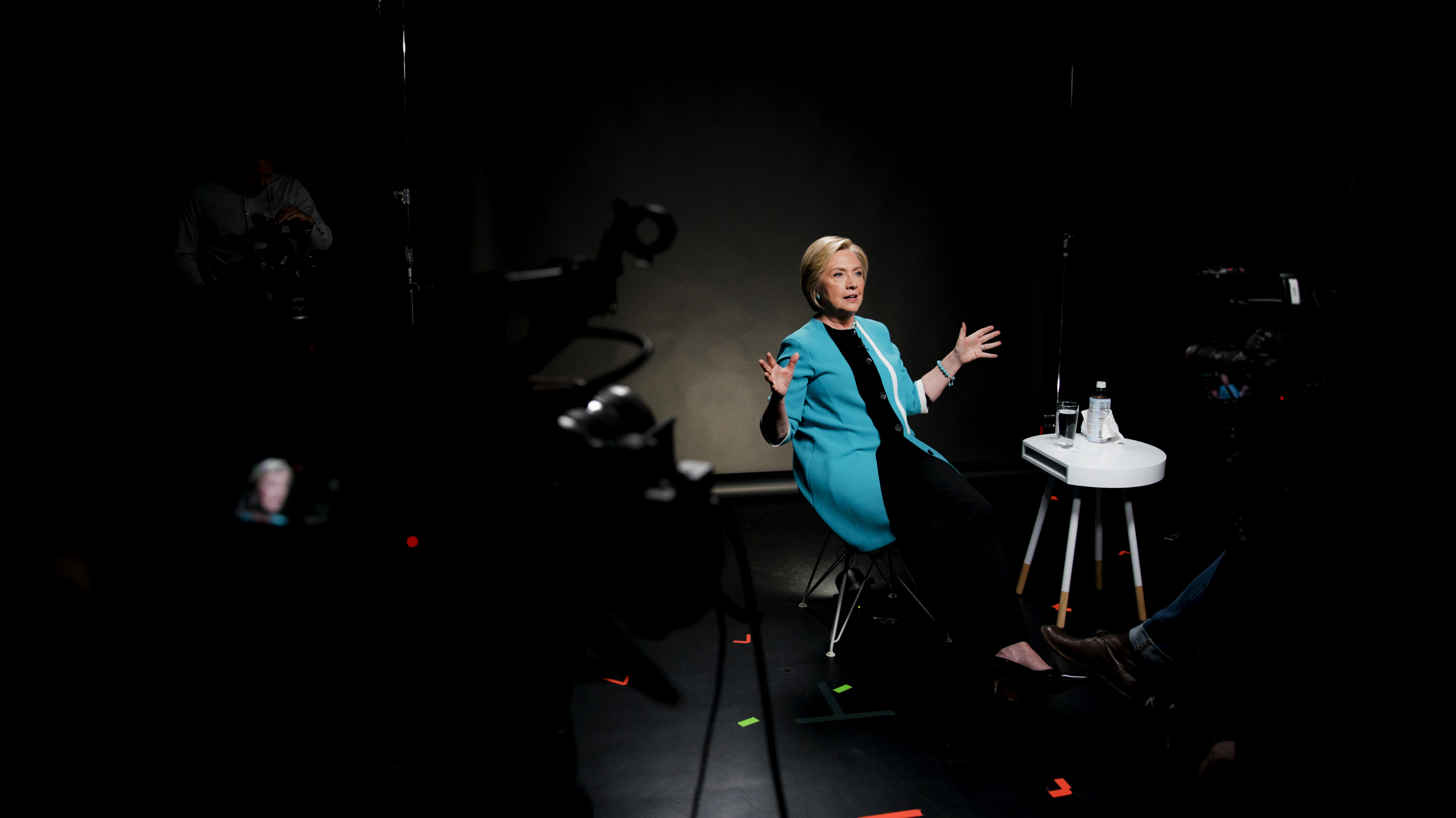 Hillary Clinton during an interview with Vox's Ezra Klein on September 12, 2017.