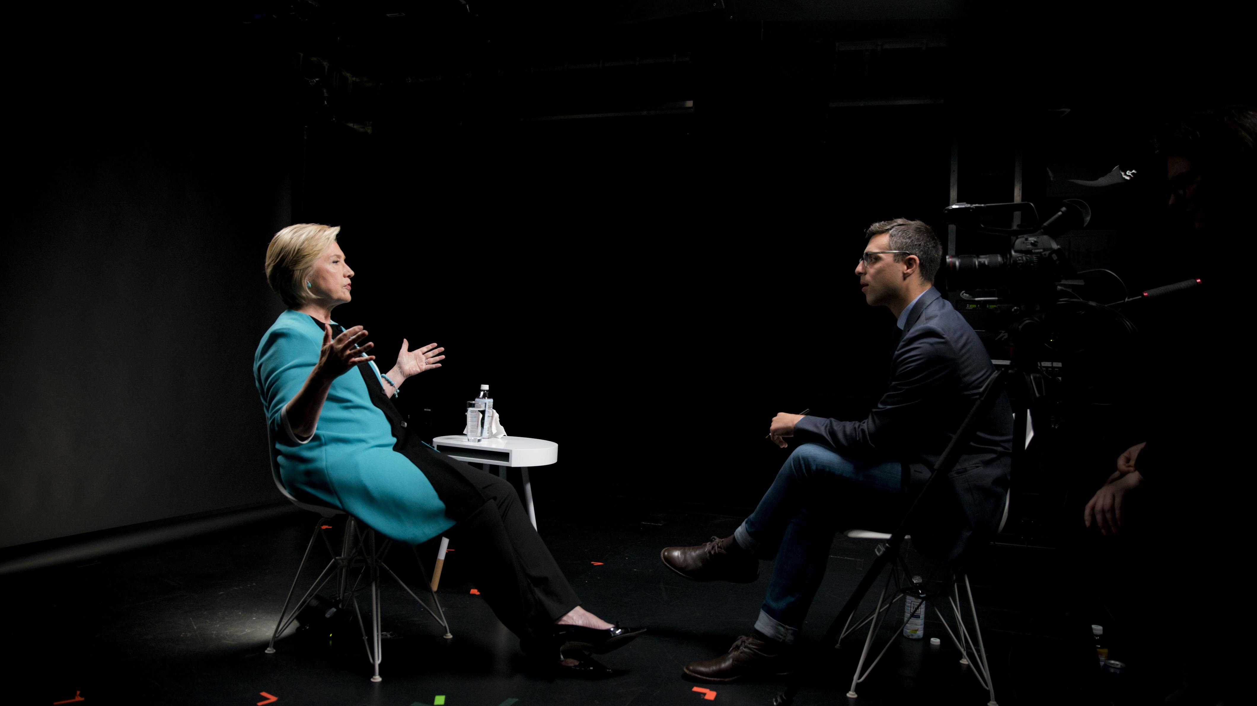 Hillary Clinton and Ezra Klein