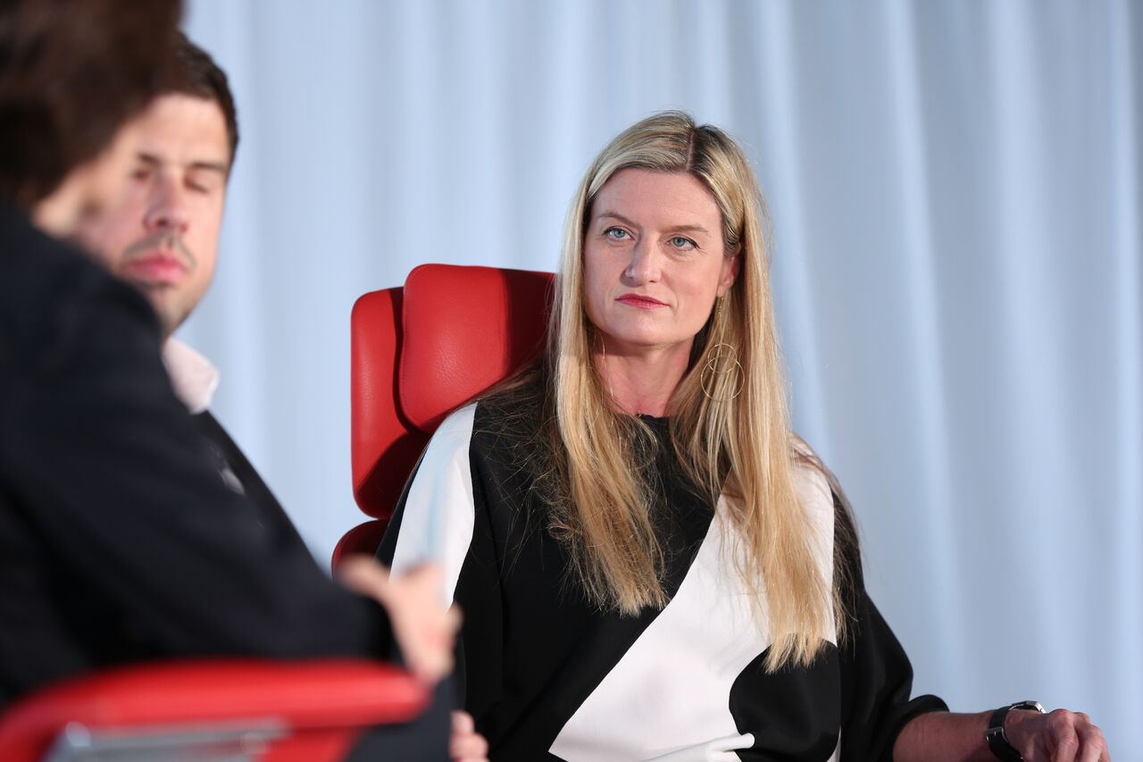 Laura Alber, CEO of Williams-Sonoma on the Code Commerce stage in New York City