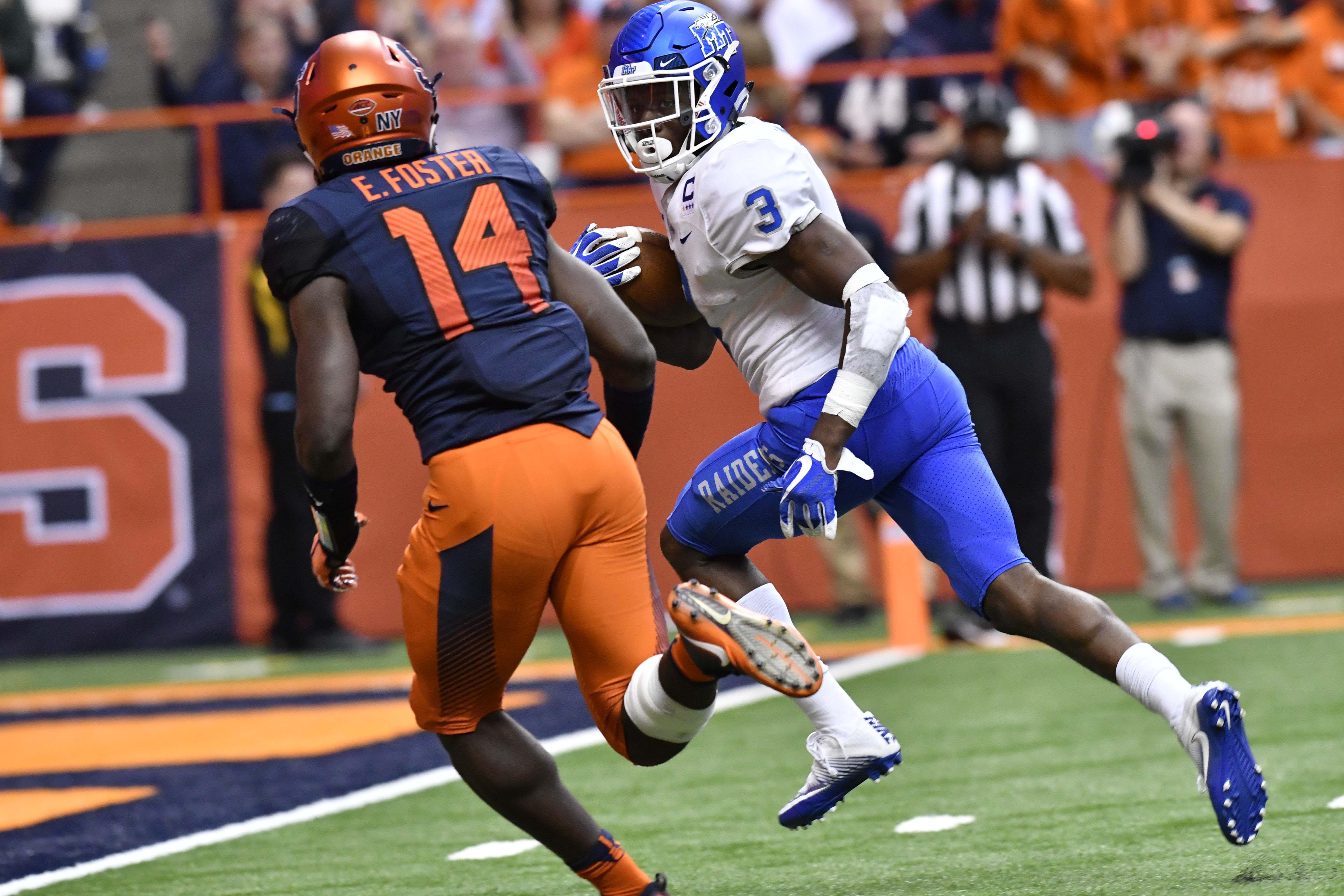 NCAA Football: Middle Tennessee at Syracuse