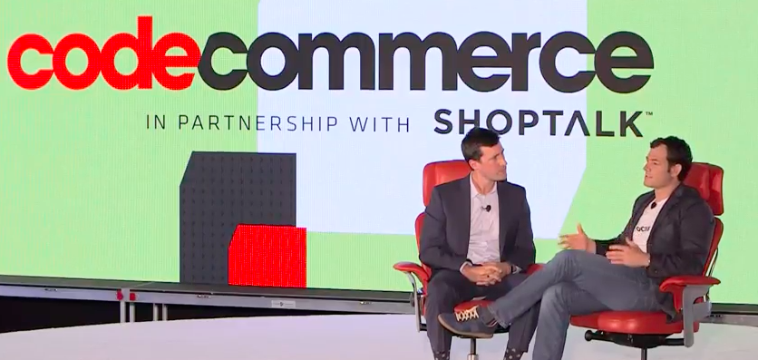 Pinterest CEO Tim Kendall onstage at Code Commerce