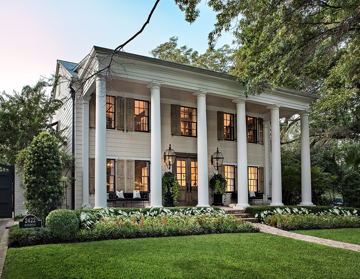 photo of two-story Colonial/classical revival house