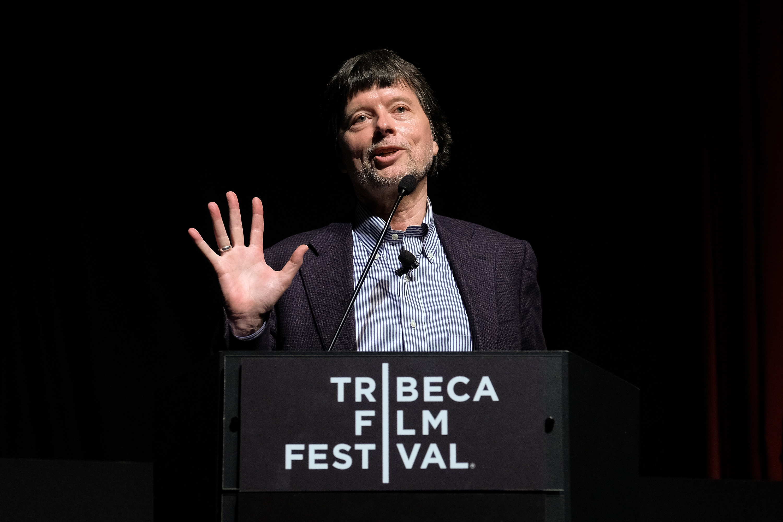 "Director/producer Ken Burns speaks onstage during ""The Vietnam War"" premiere."