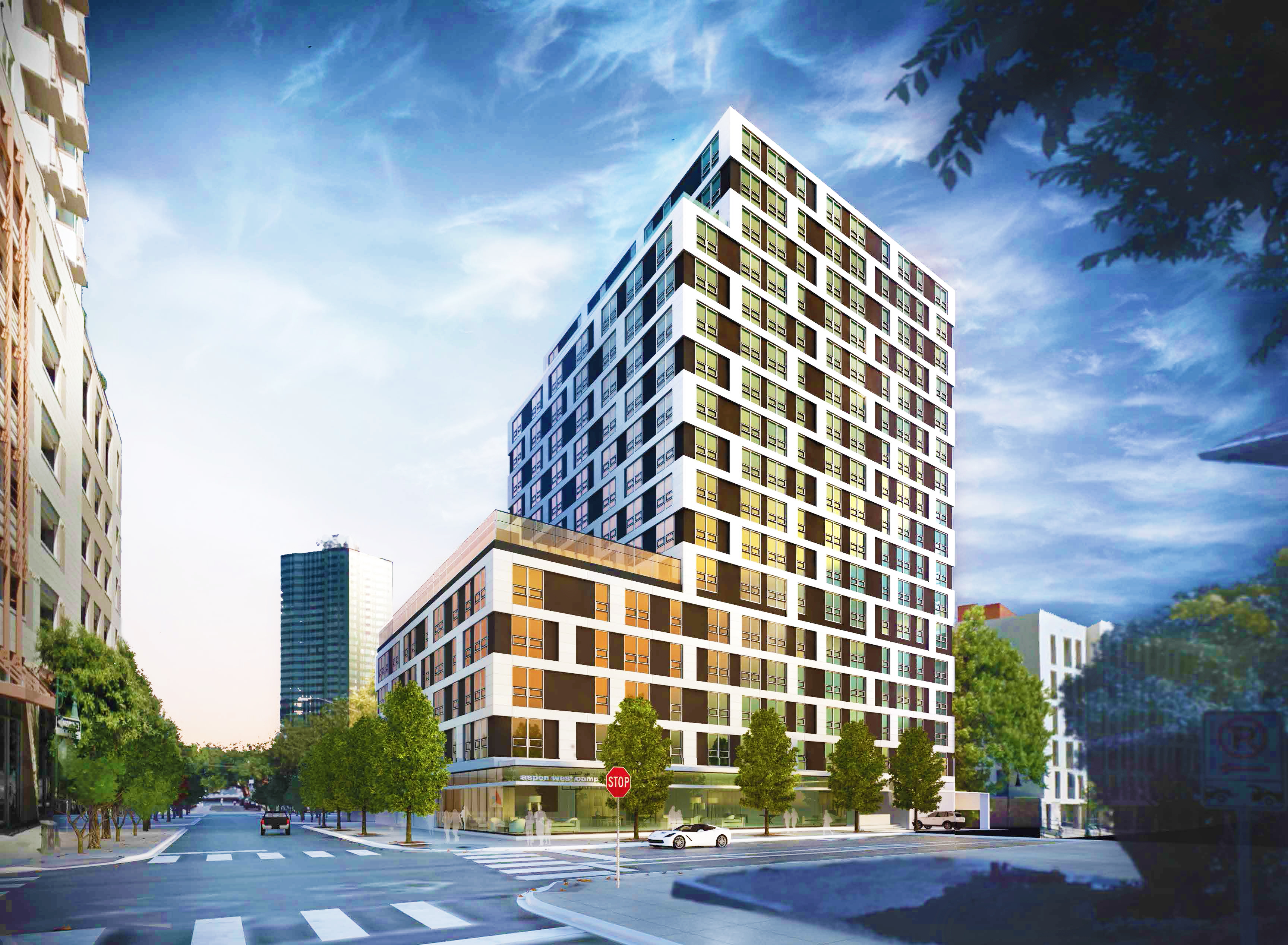 rendering of multi-leveled high-rise