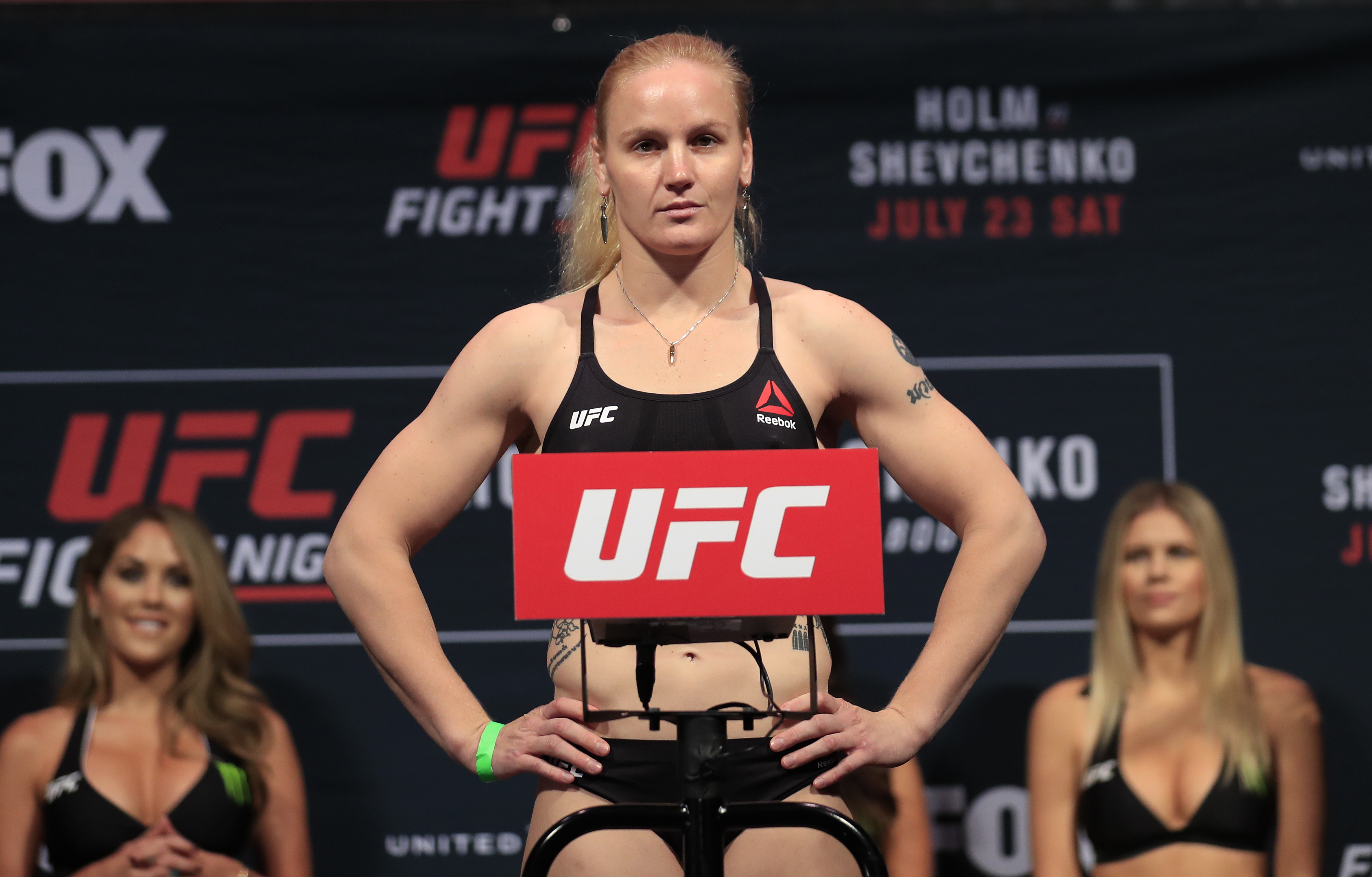 MMA: UFC Fight Night-Holm vs Shevchenko-Weigh Ins