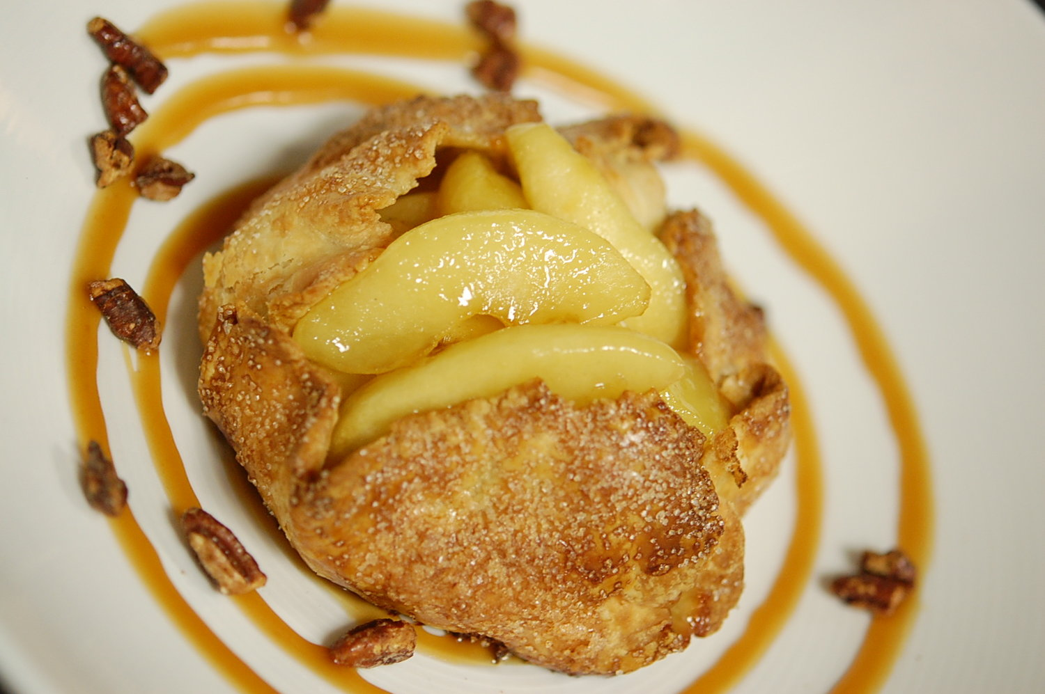 An apple-filled pastry at Equinox.