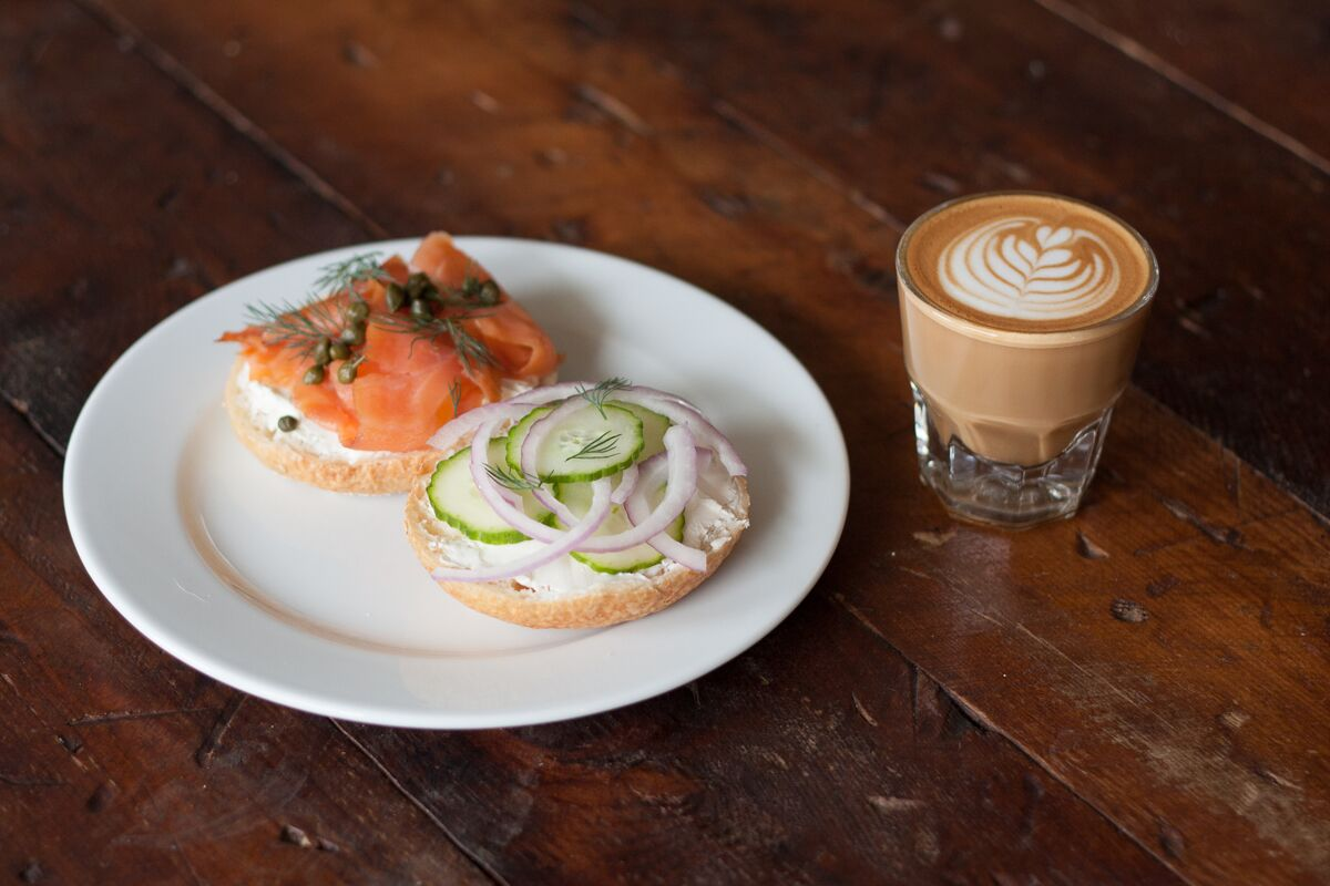 Manley's bagel and lox