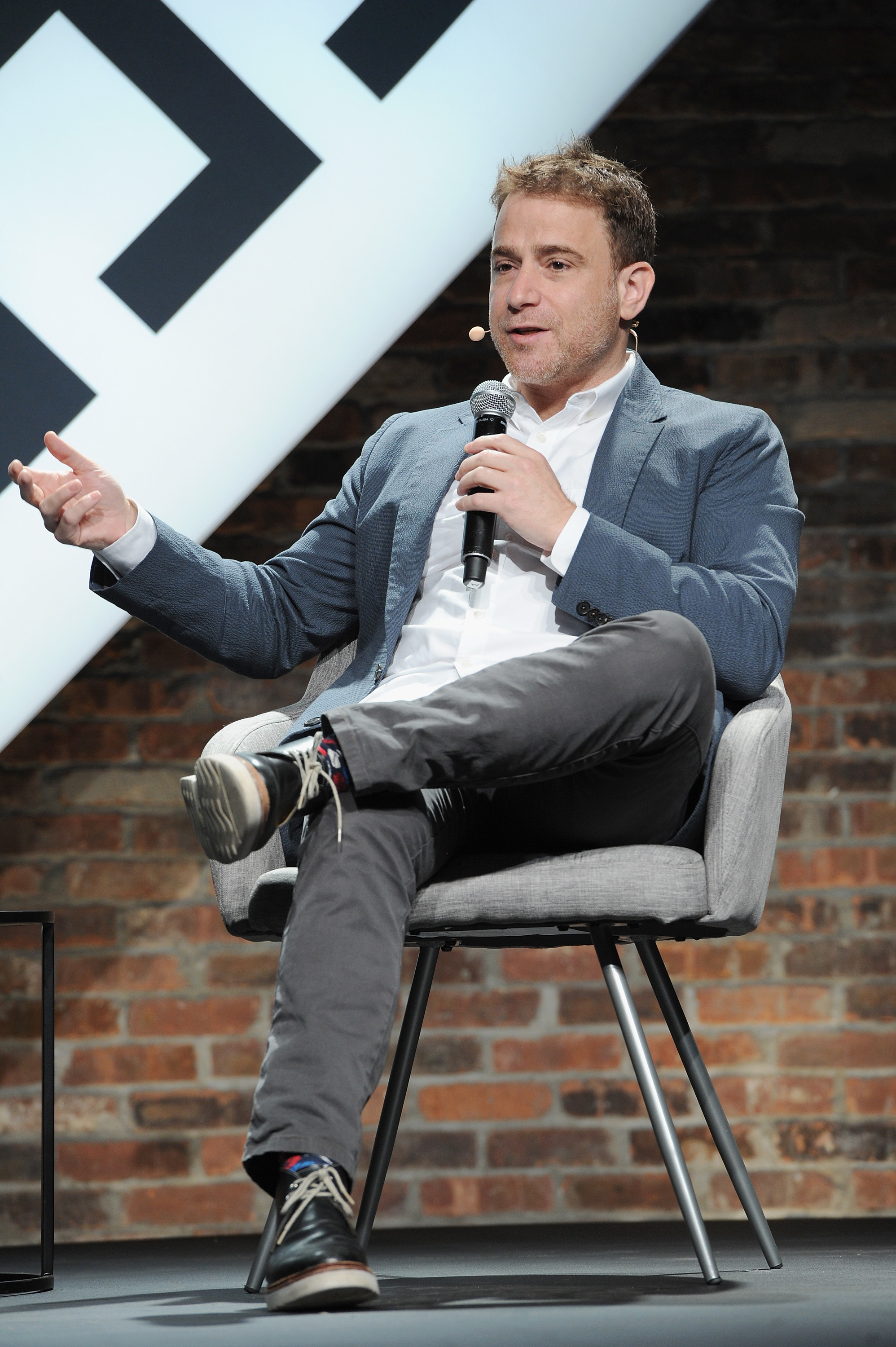 Slack co-founder and CEO Stewart Butterfield onstage