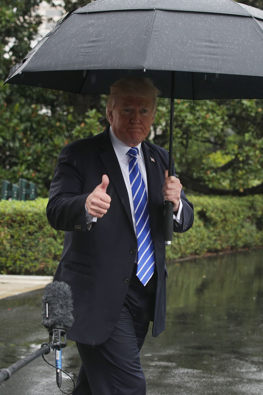 President Trump Departs White House En Route To North Dakota For Tax Reform Speech
