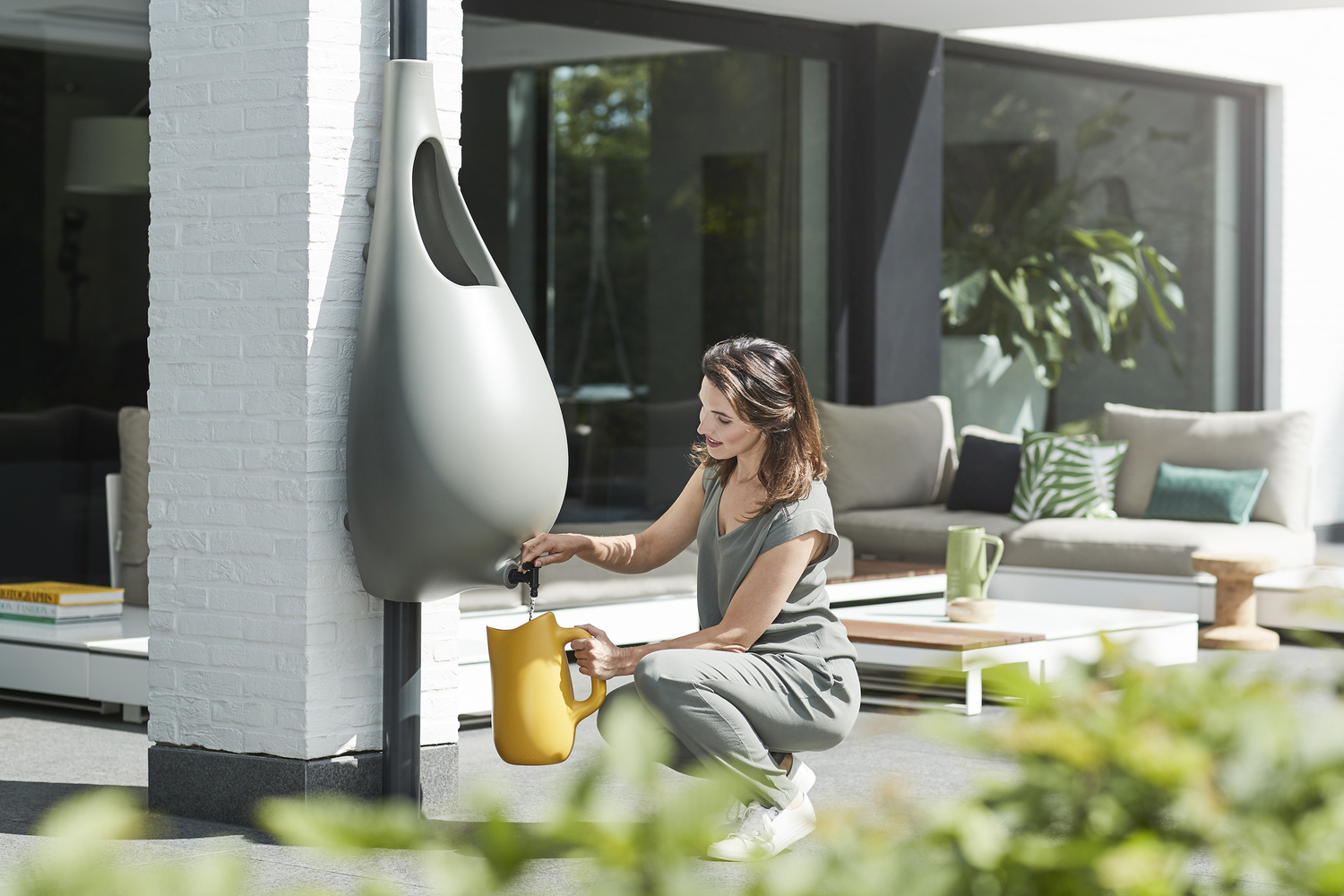 Rainwater harvesting is easy with 'Raindrop' barrel