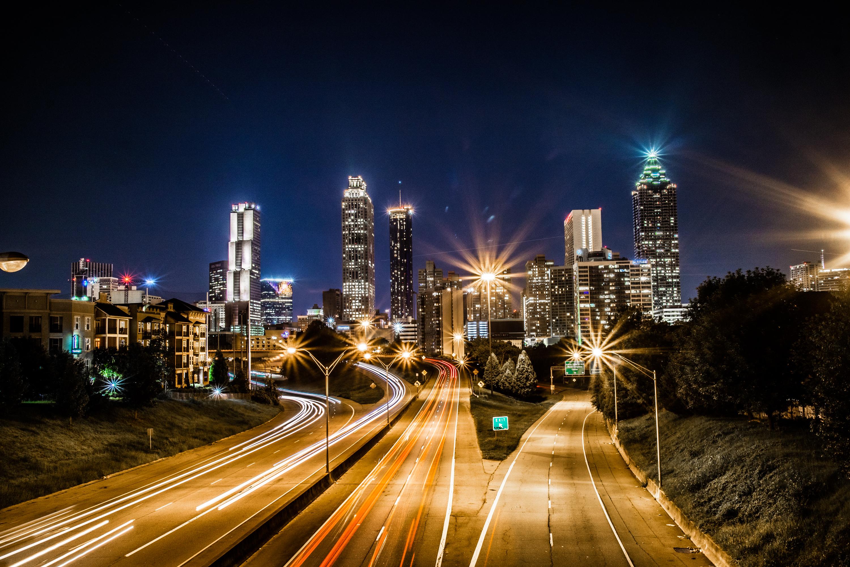 The Atlanta skyline from the Jackson Street Bridge