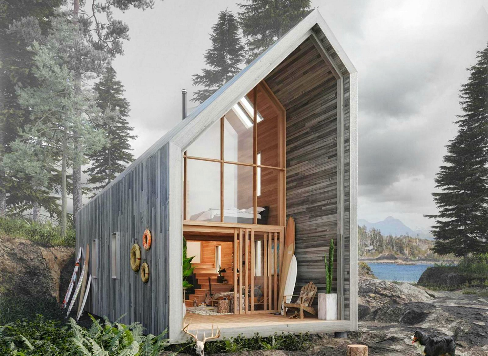 Prefab 'Surf Shack' offers nature getaway, flatpack-style
