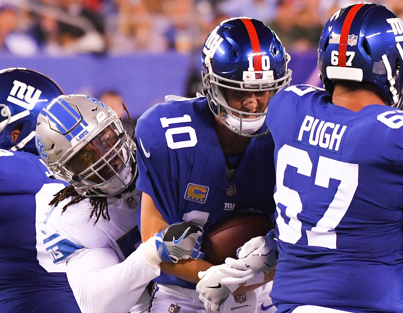 NFL: Detroit Lions at New York Giants