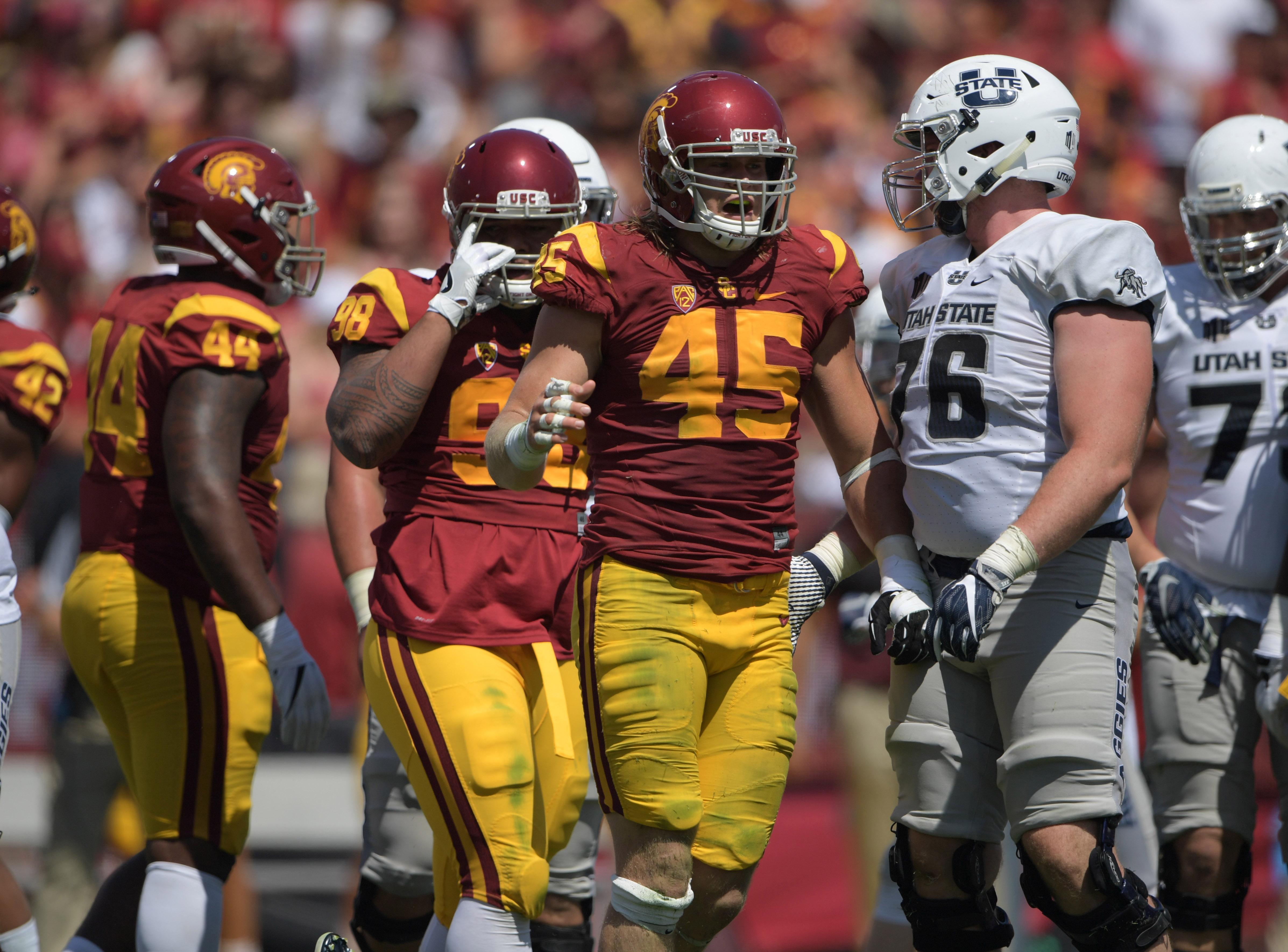 NCAA Football: Utah State at Southern California