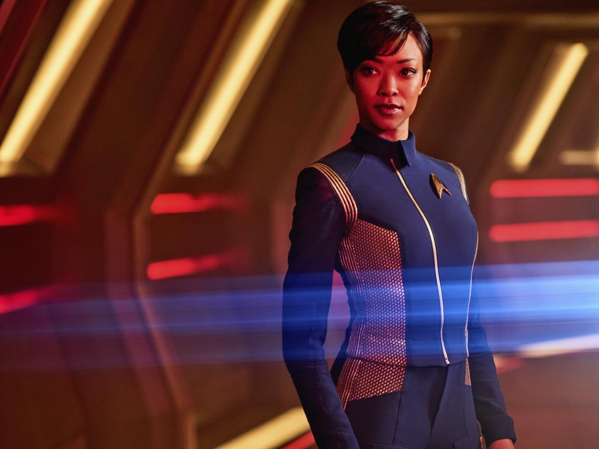 Sonequa Martin-Green as First Officer Michael Burnham on Star Trek: Discovery.