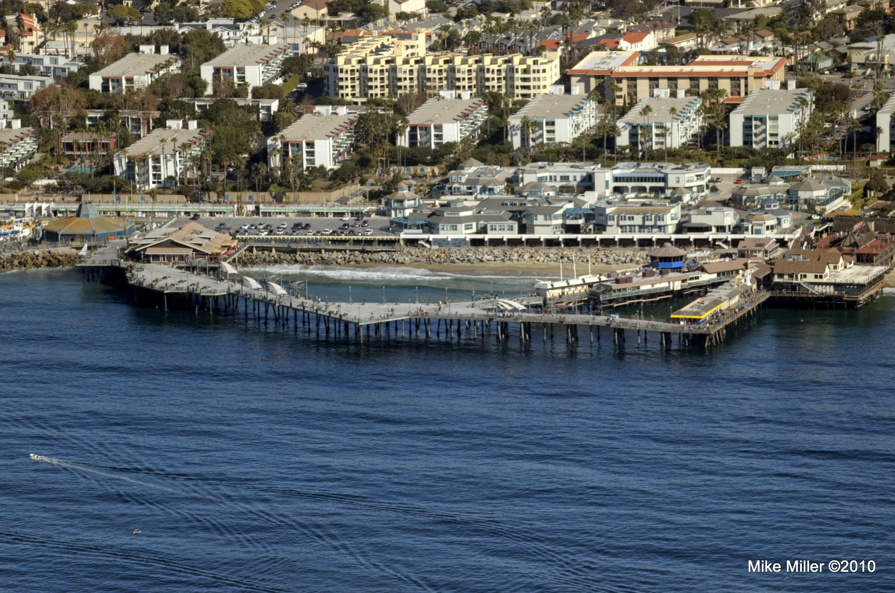 Redondo Beach pier from above