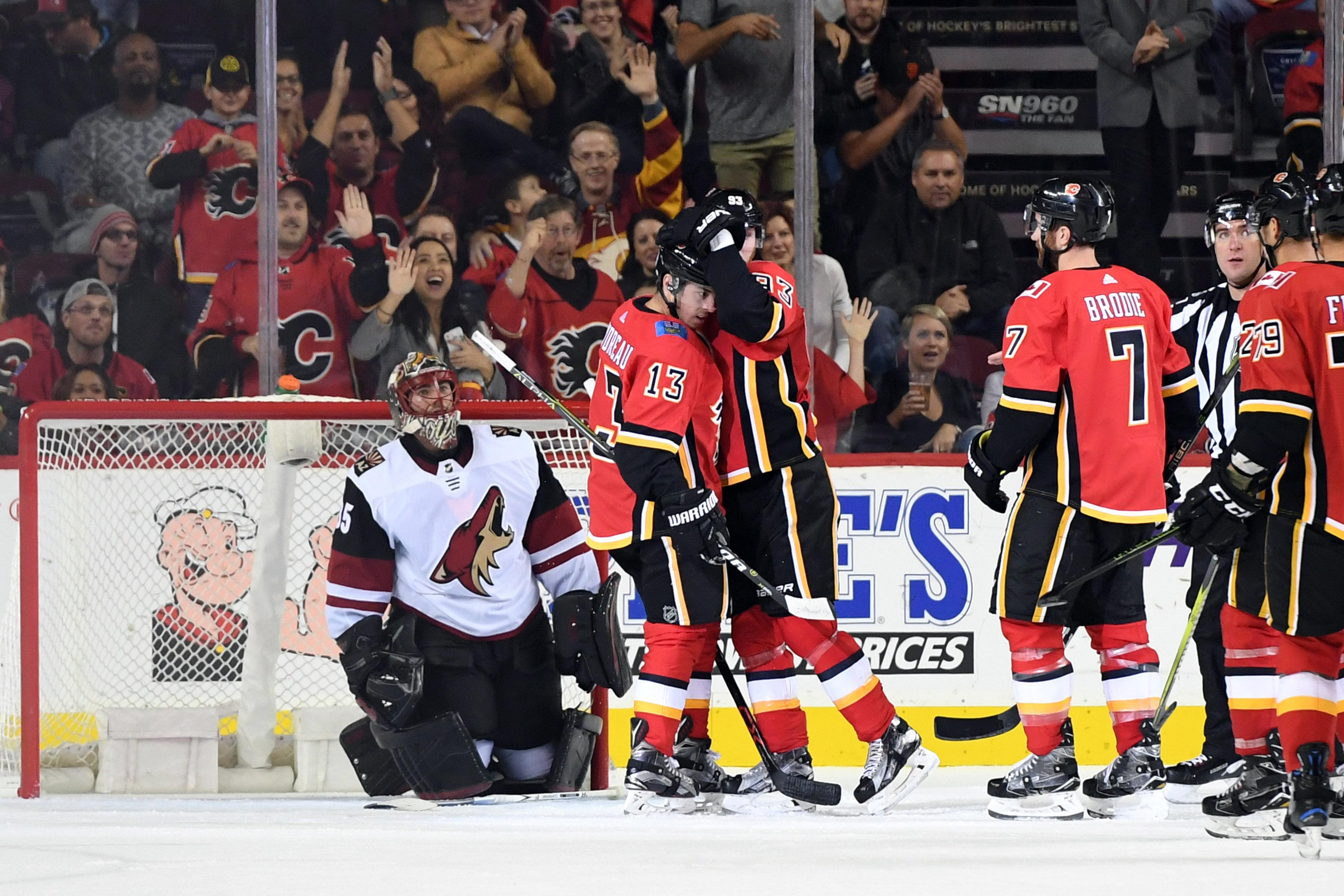 NHL: Preseason-Arizona Coyotes at Calgary Flames