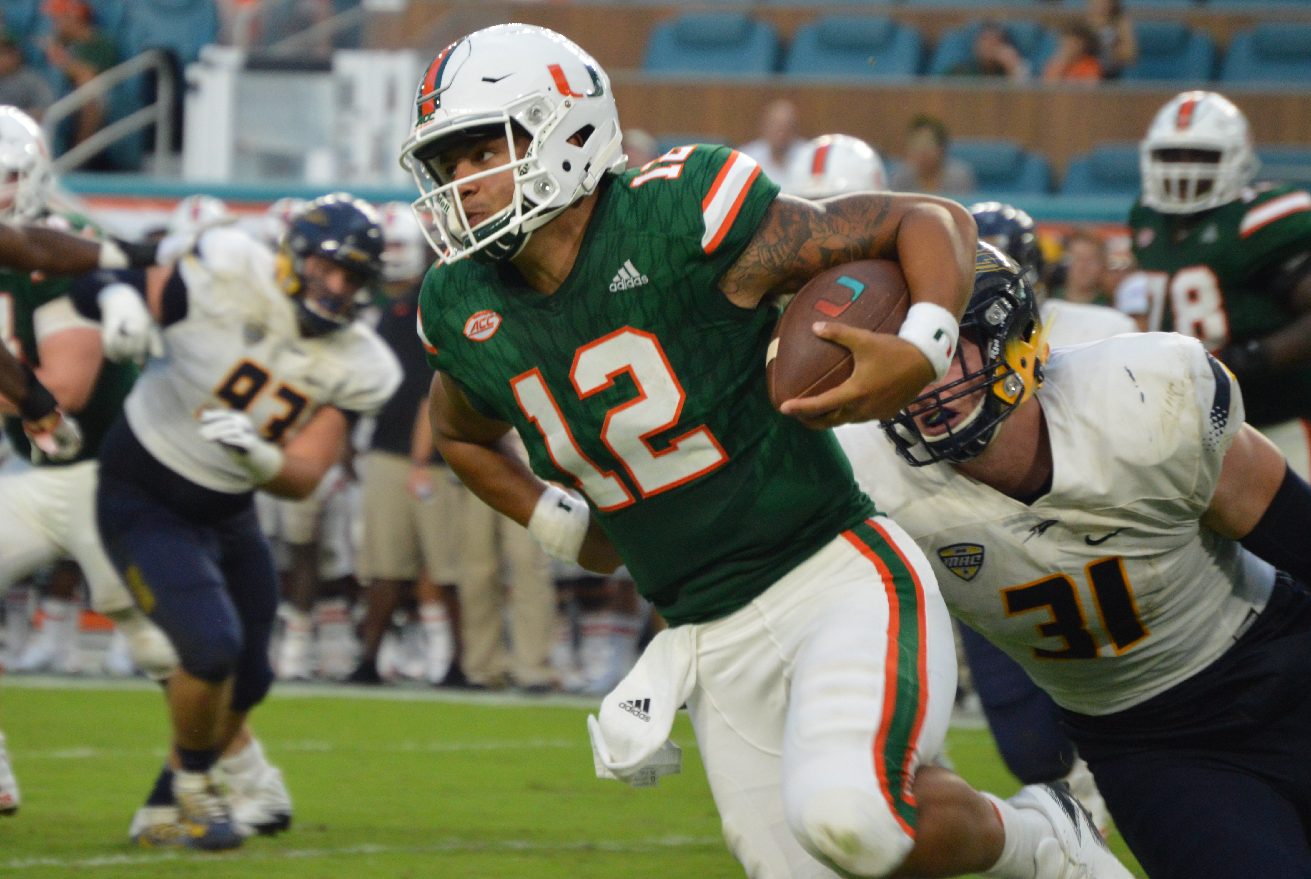 Rosier with a rush in a win over Toledo