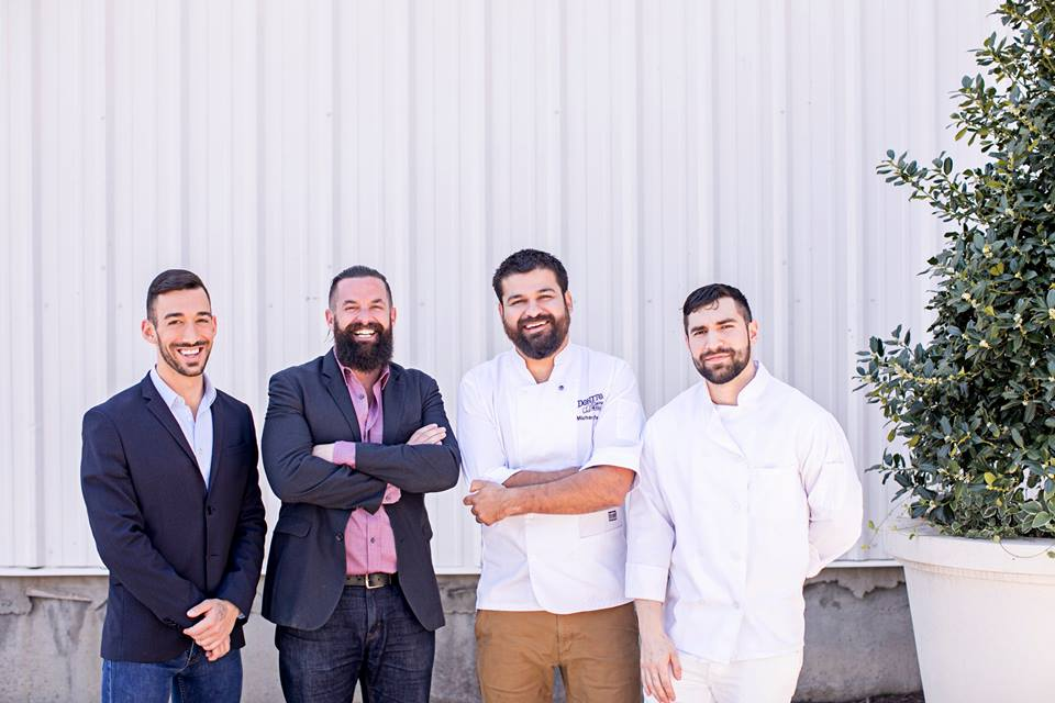 From left: Donetto assistant general manager Chris Amato, general manager Jon Murray, executive chef Mike Perez, and sous chef Kevin Perez.