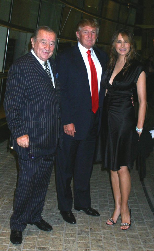 Sirio Maccioni, Donald Trump, and Melania Trump