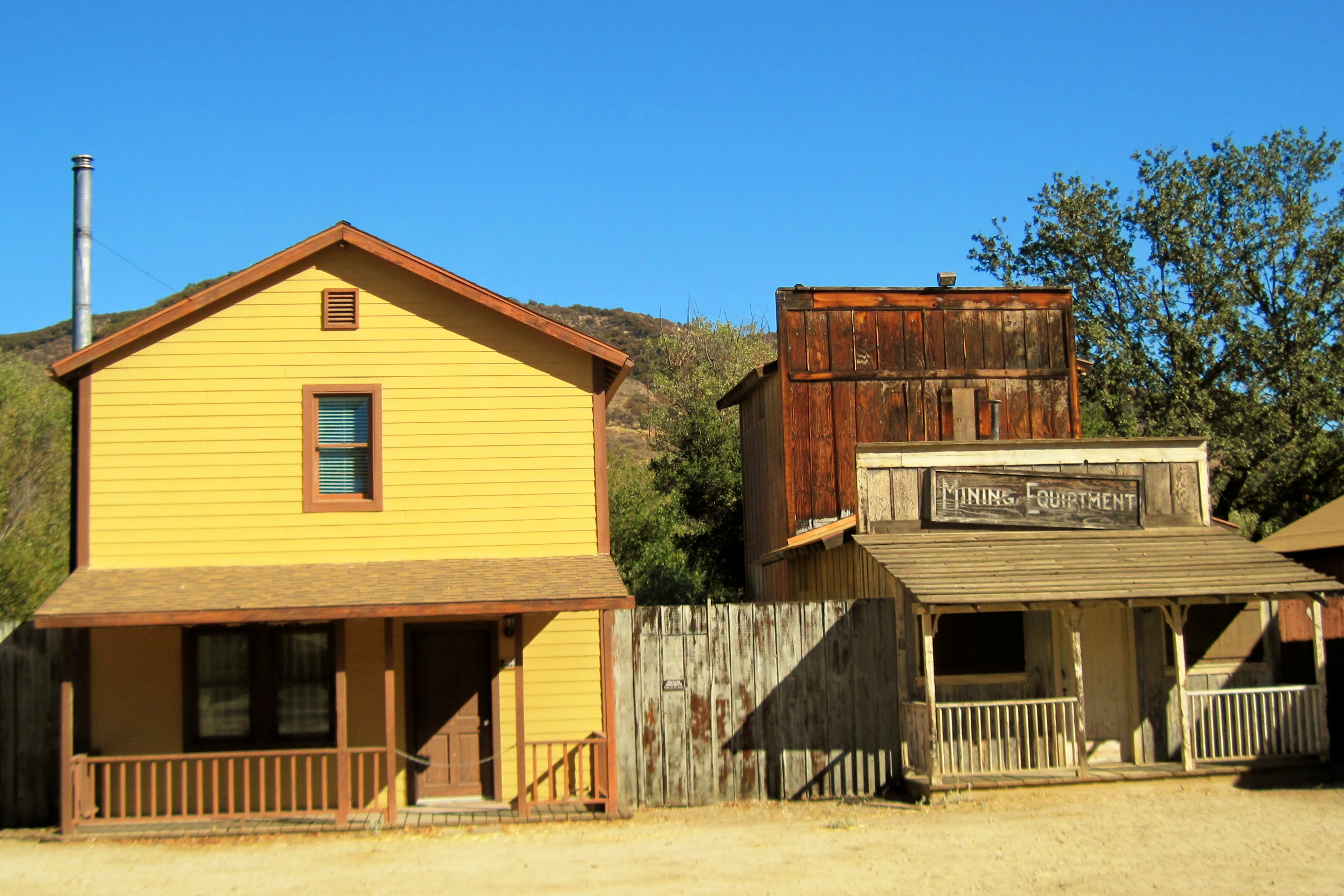 Old west-style buildings at Paramount Ranch