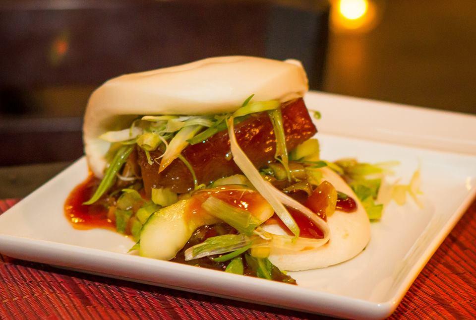 A saucy bao bun at Chaplin's.