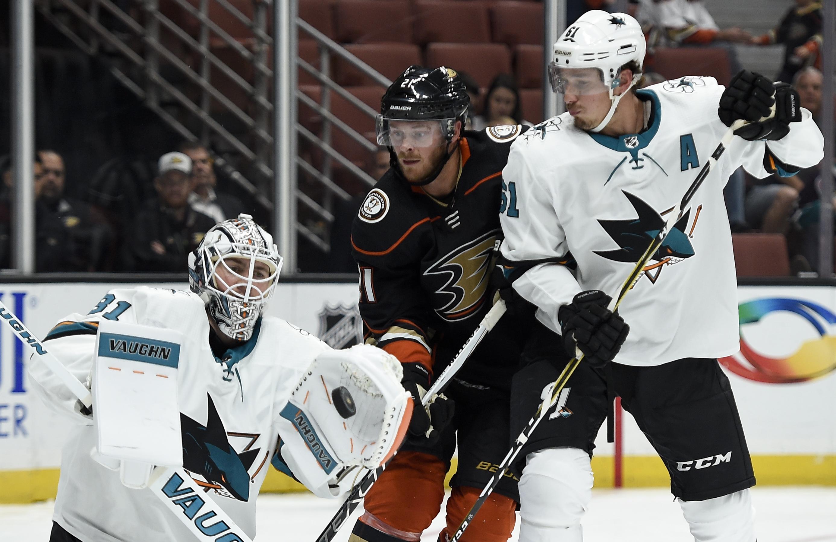 NHL: Preseason-San Jose Sharks at Anaheim Ducks
