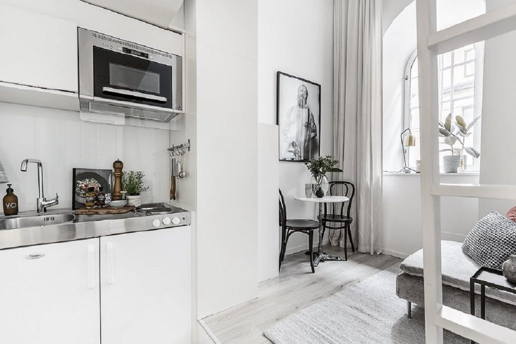 tiny apartment in Stockholm