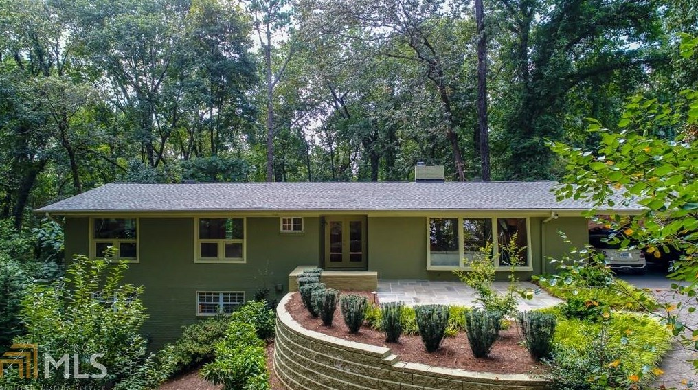 A renovated midcentury modern residence in buckhead for sale right now at $795,000.