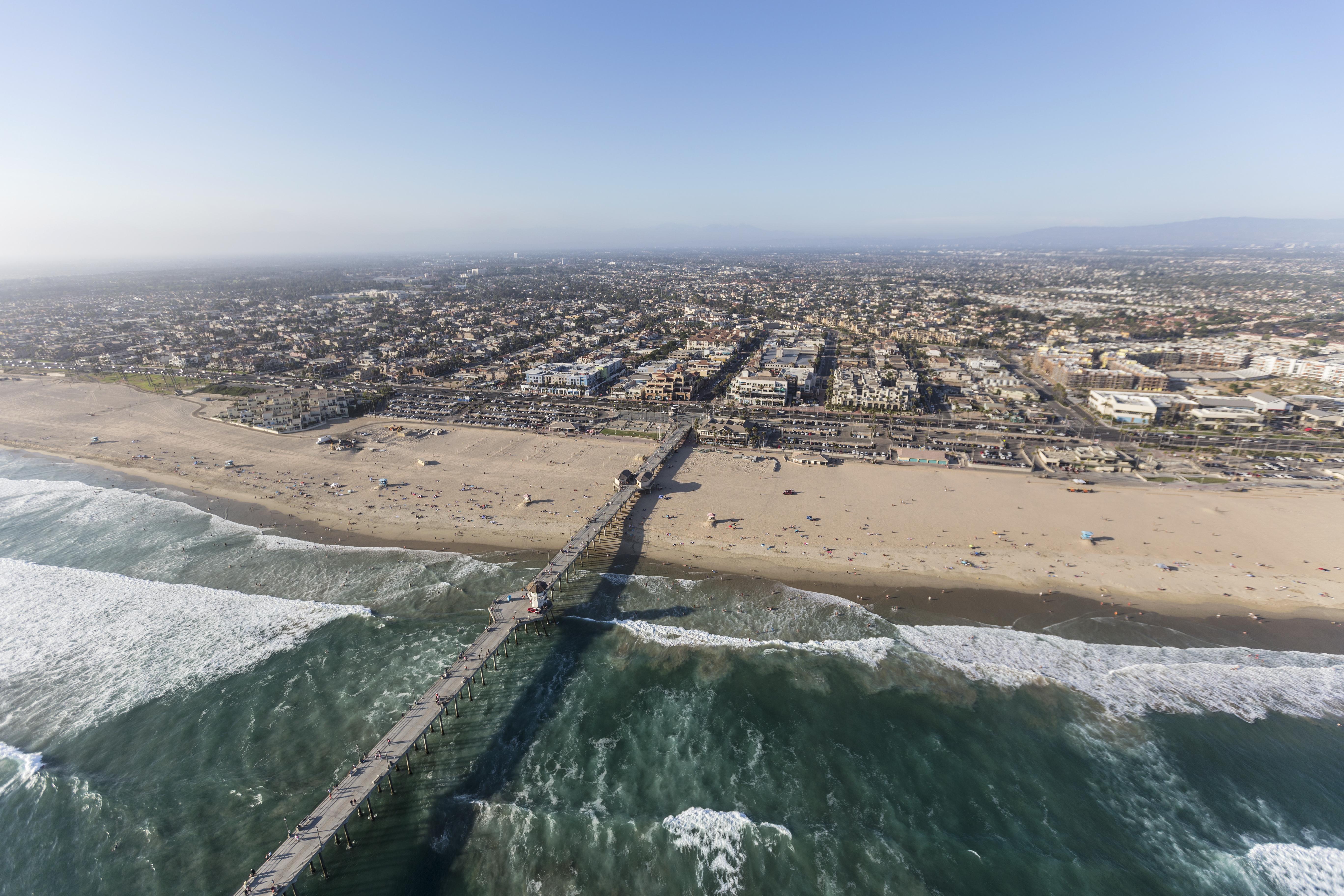 Aerial view of Huntington Beach