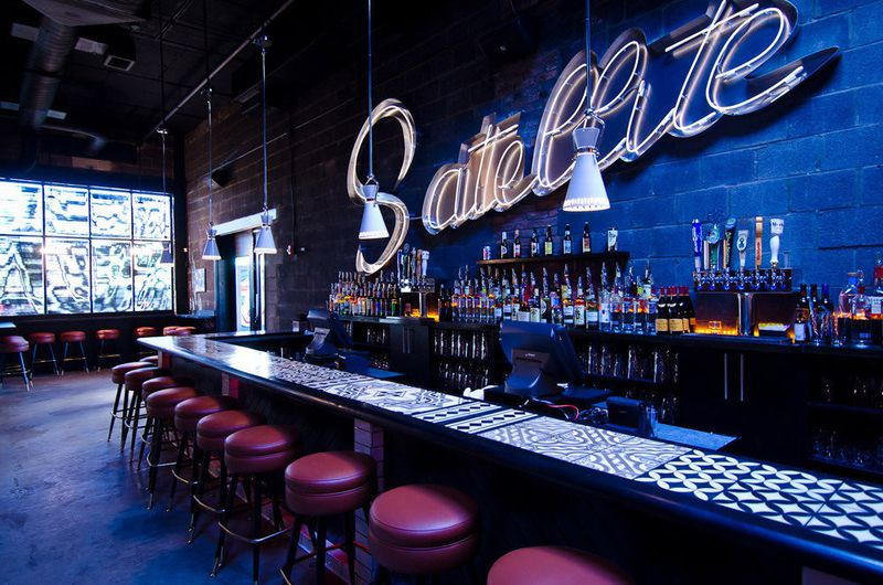 The front bar at the Satellite Room