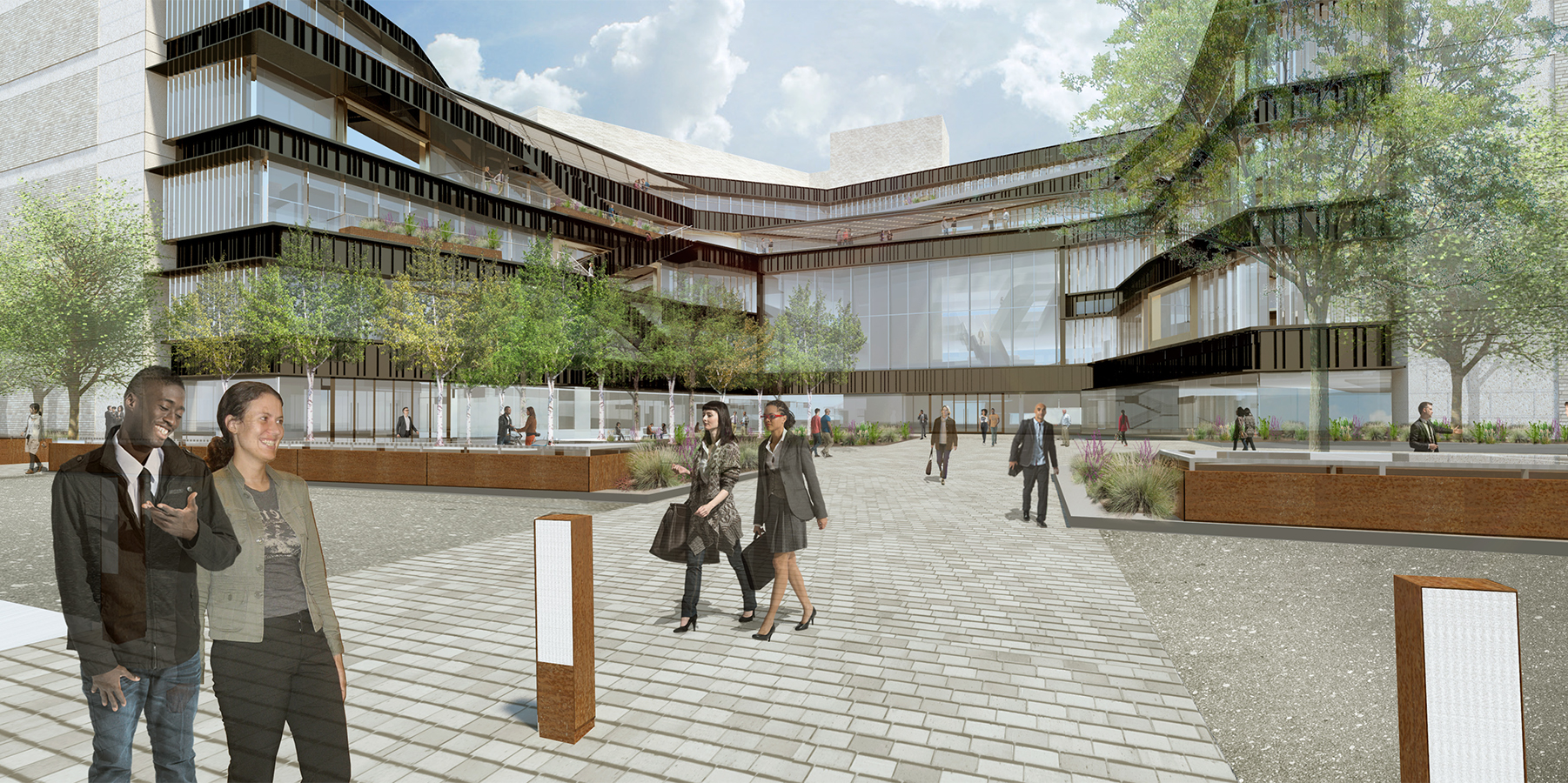 Rendering of AT&T Hotel and Convention Center expansion