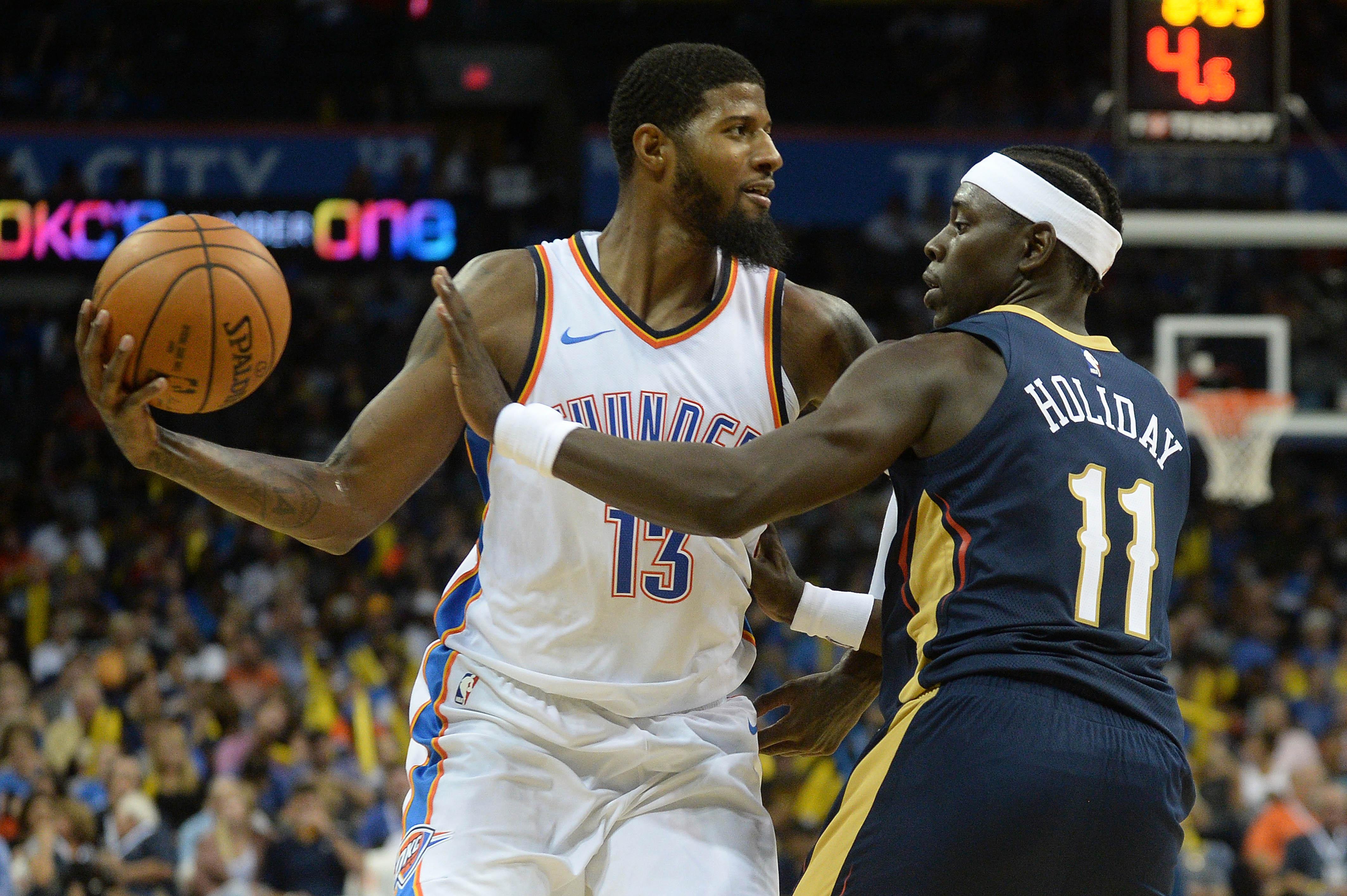 NBA: Preseason-New Orleans Pelicans at Oklahoma City Thunder