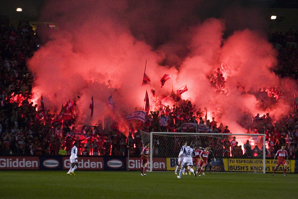 Section 8 Chicago lights itself up for a game back in 2009.