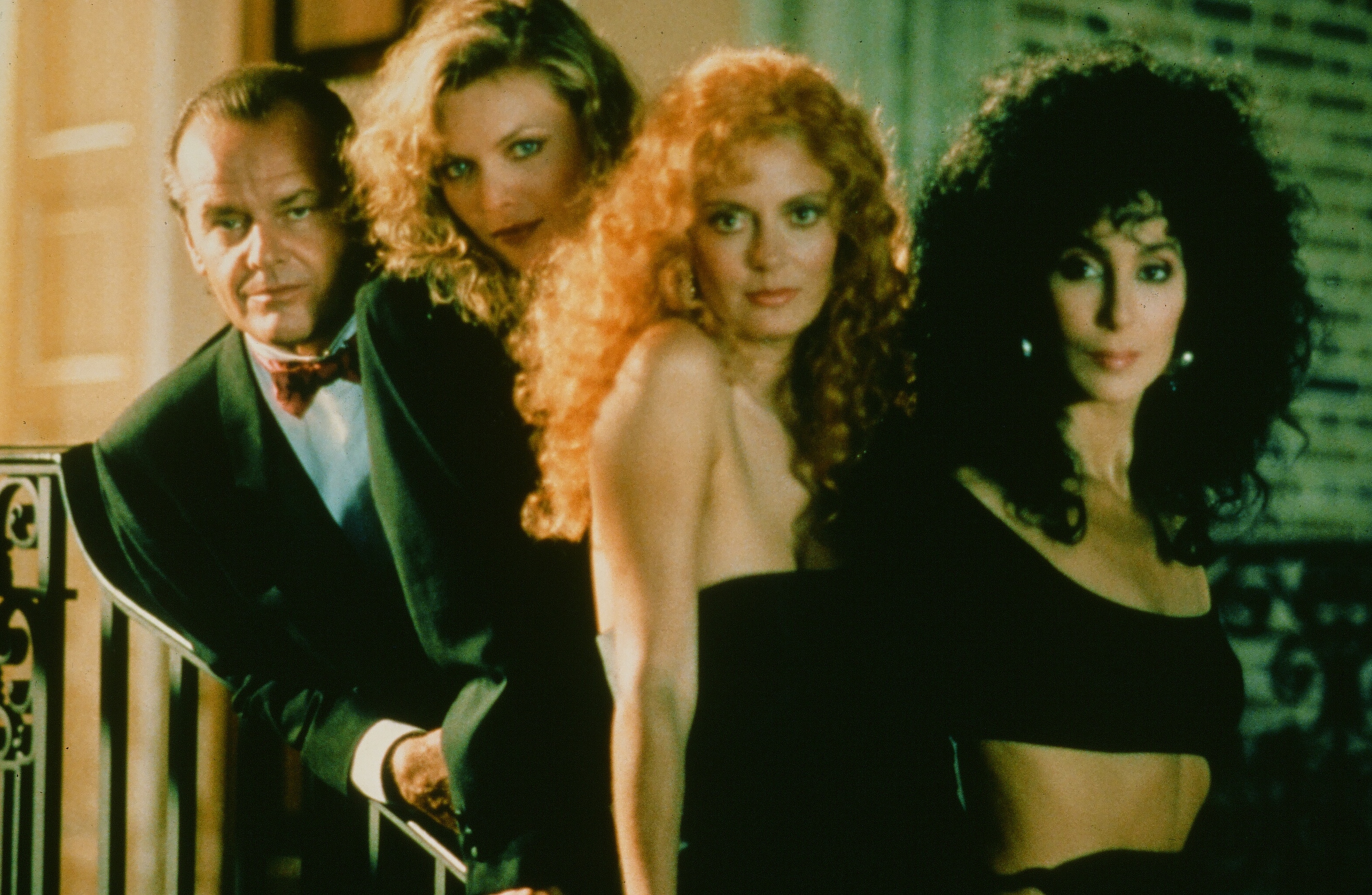 The cast of The Witches of Eastwick.