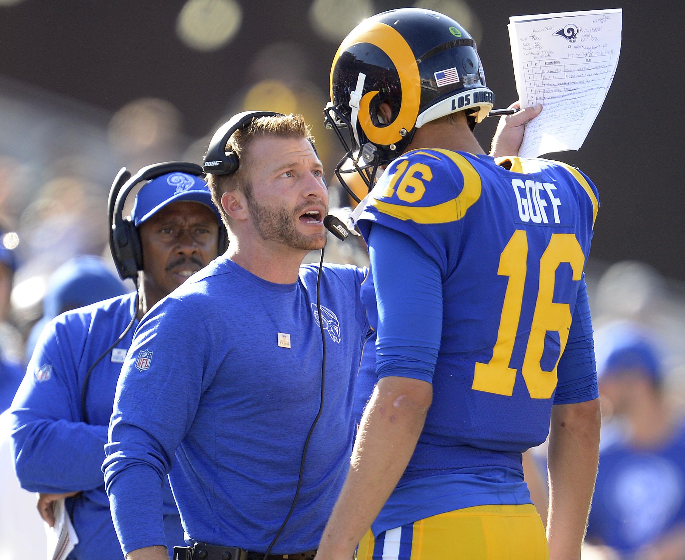 Los Angeles Rams HC Sean McVay & QB Jared Goff