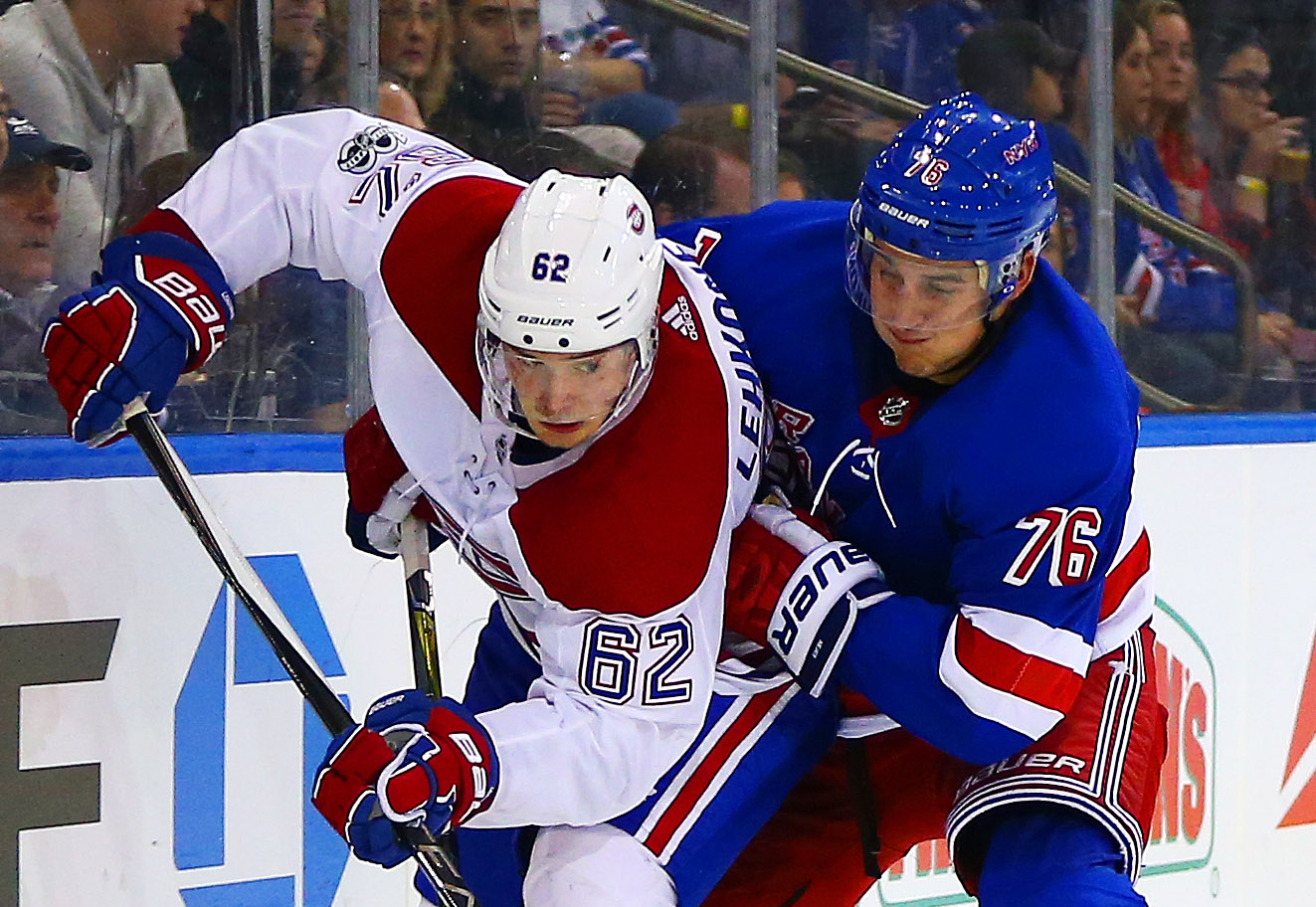 NHL: Montreal Canadiens at New York Rangers