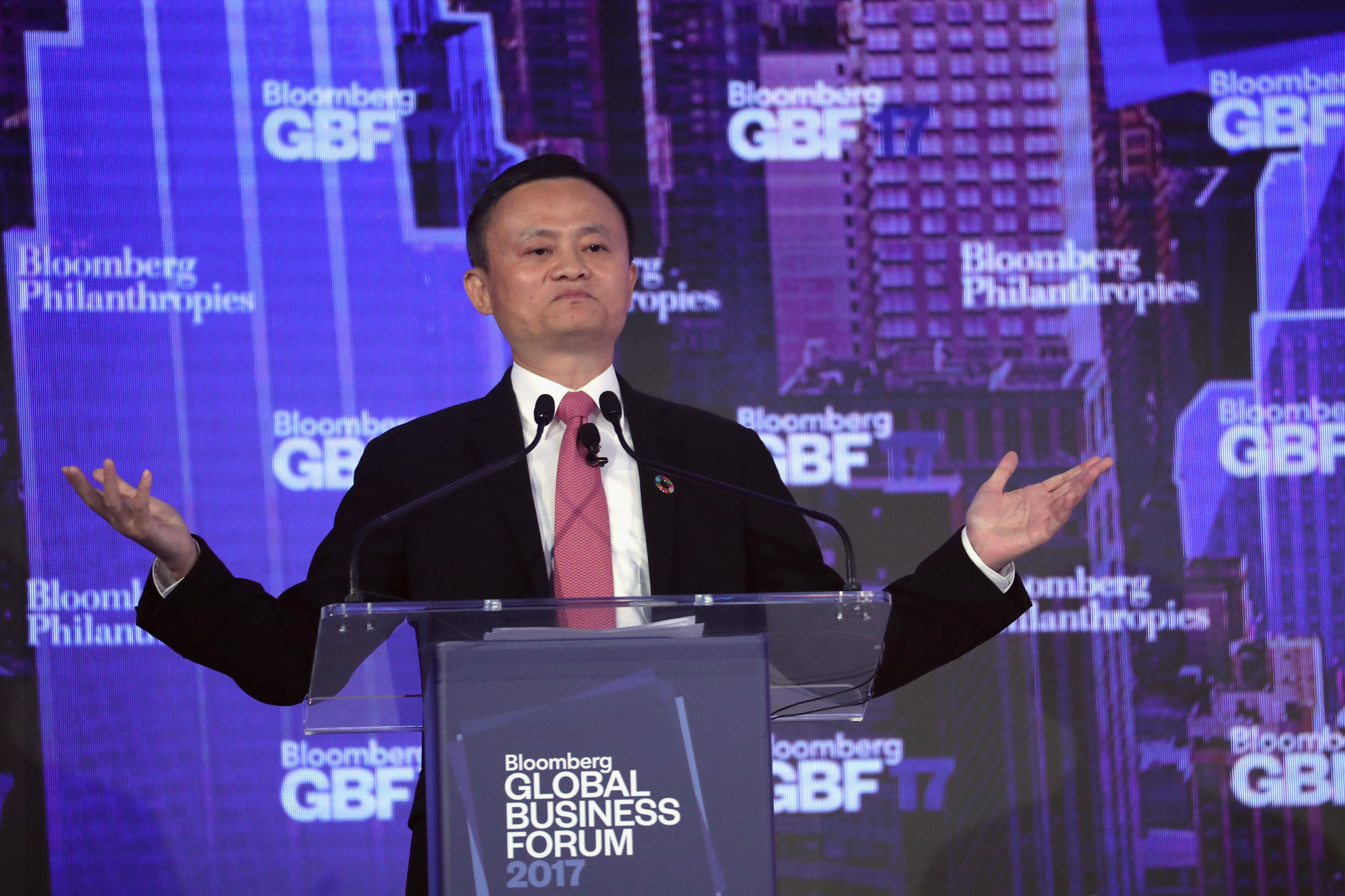 Jack Ma, executive chairman of Alibaba Group at Bloomberg Global Business Forum Held In New York