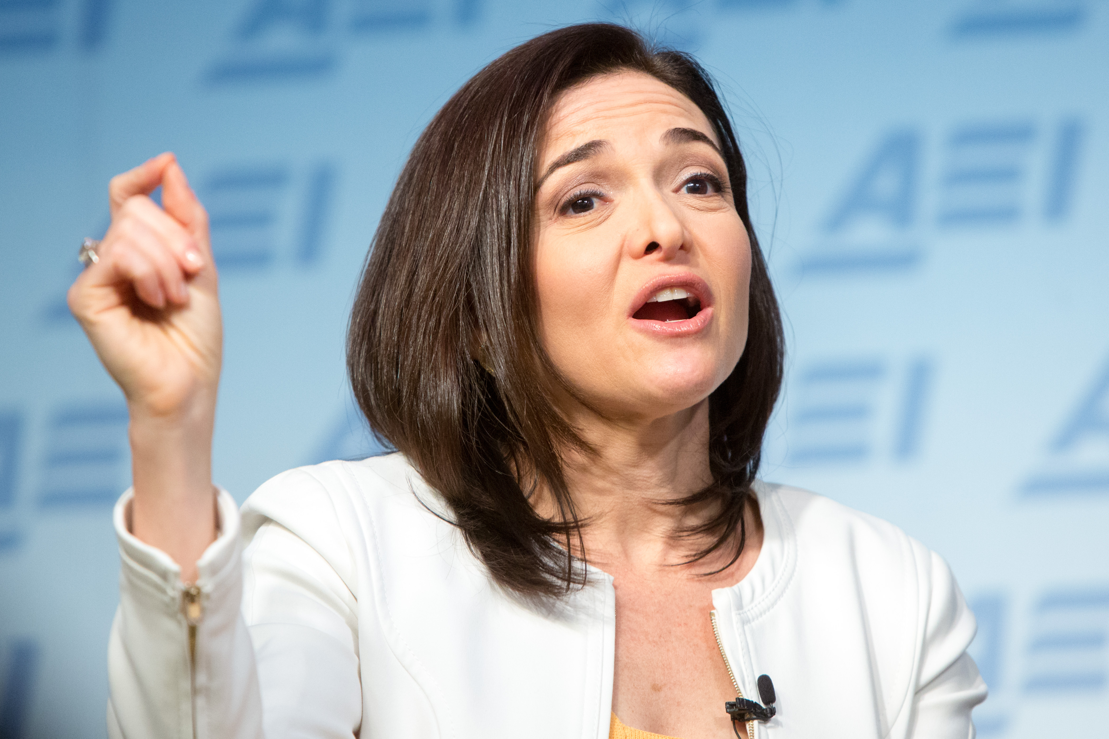 Facebook's Chief Operating Officer Sheryl Sandberg Speaks At The American Enterprise Institute In D.C.