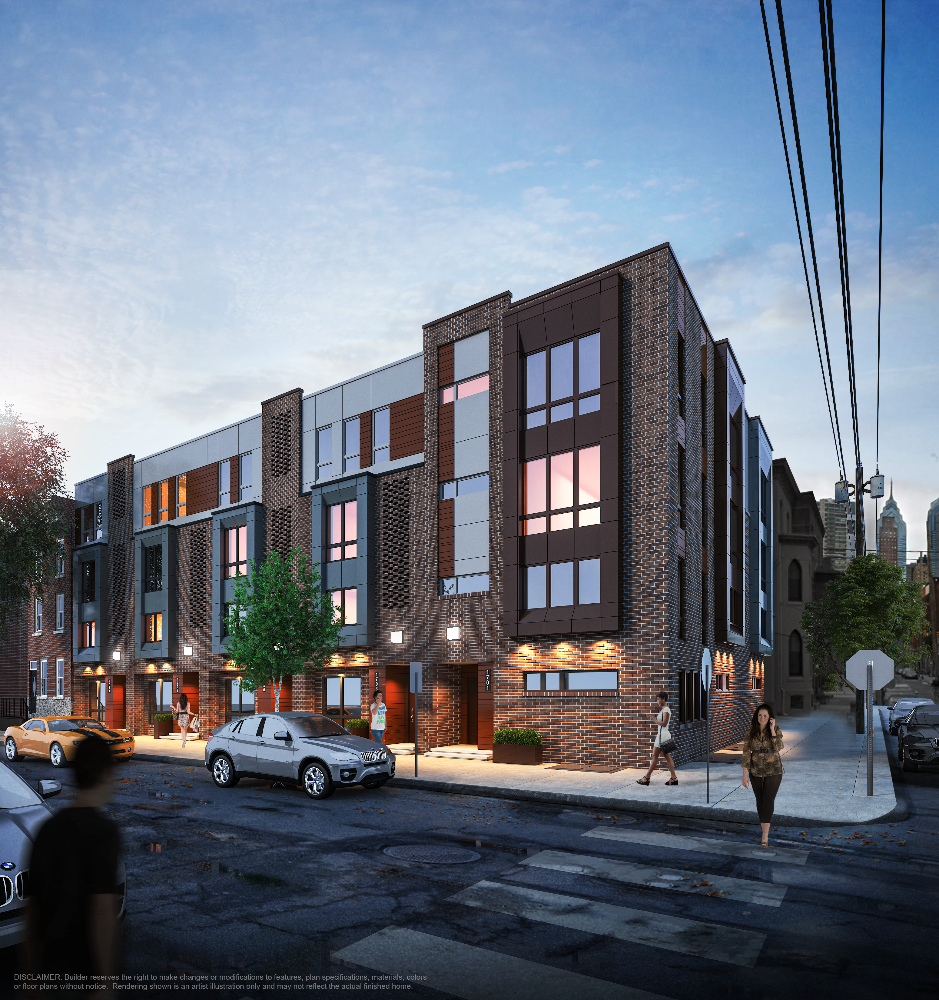 A rendering of a condo development in Philadelphia's Graduate Hospital neighborhood.