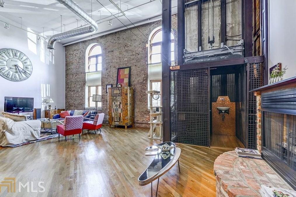 Photos of a massive Castleberry Hill loft for sale in Atlanta right now.